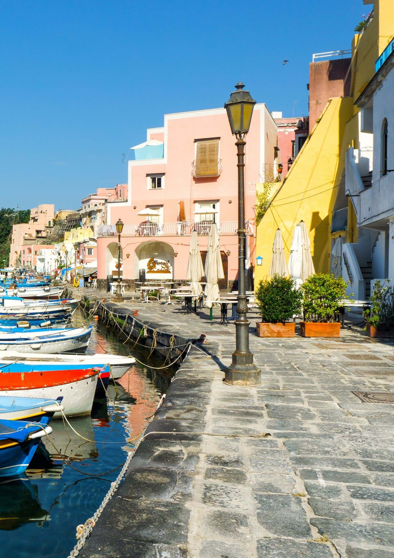 The colorful Marina di Corricella in Procida