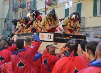Carnival of Ivrea: the Battle of the Oranges