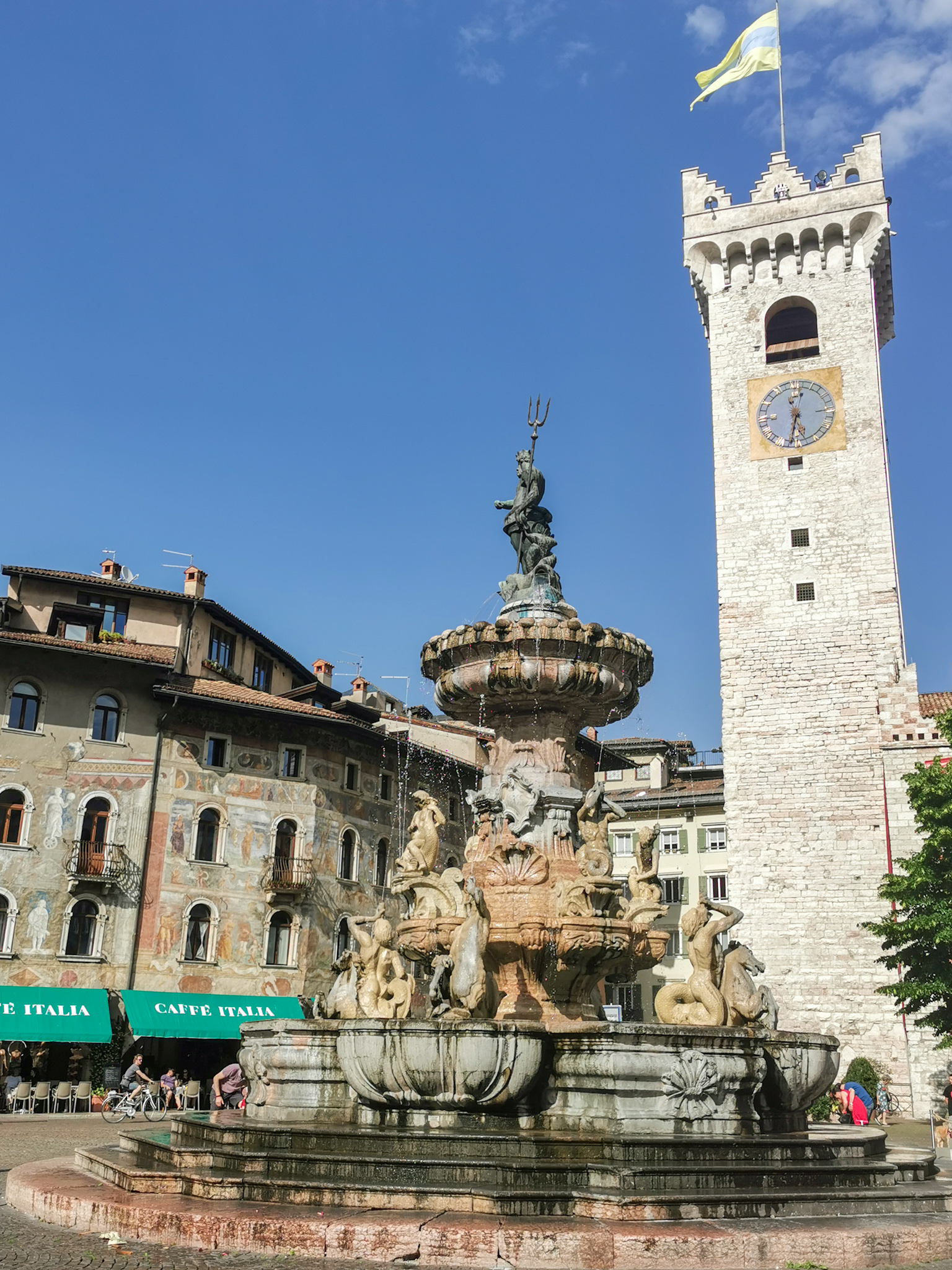 The Fountain of Neptune in Trento
