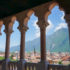 View from the loggia of the Buonconsiglio Castle in Trento