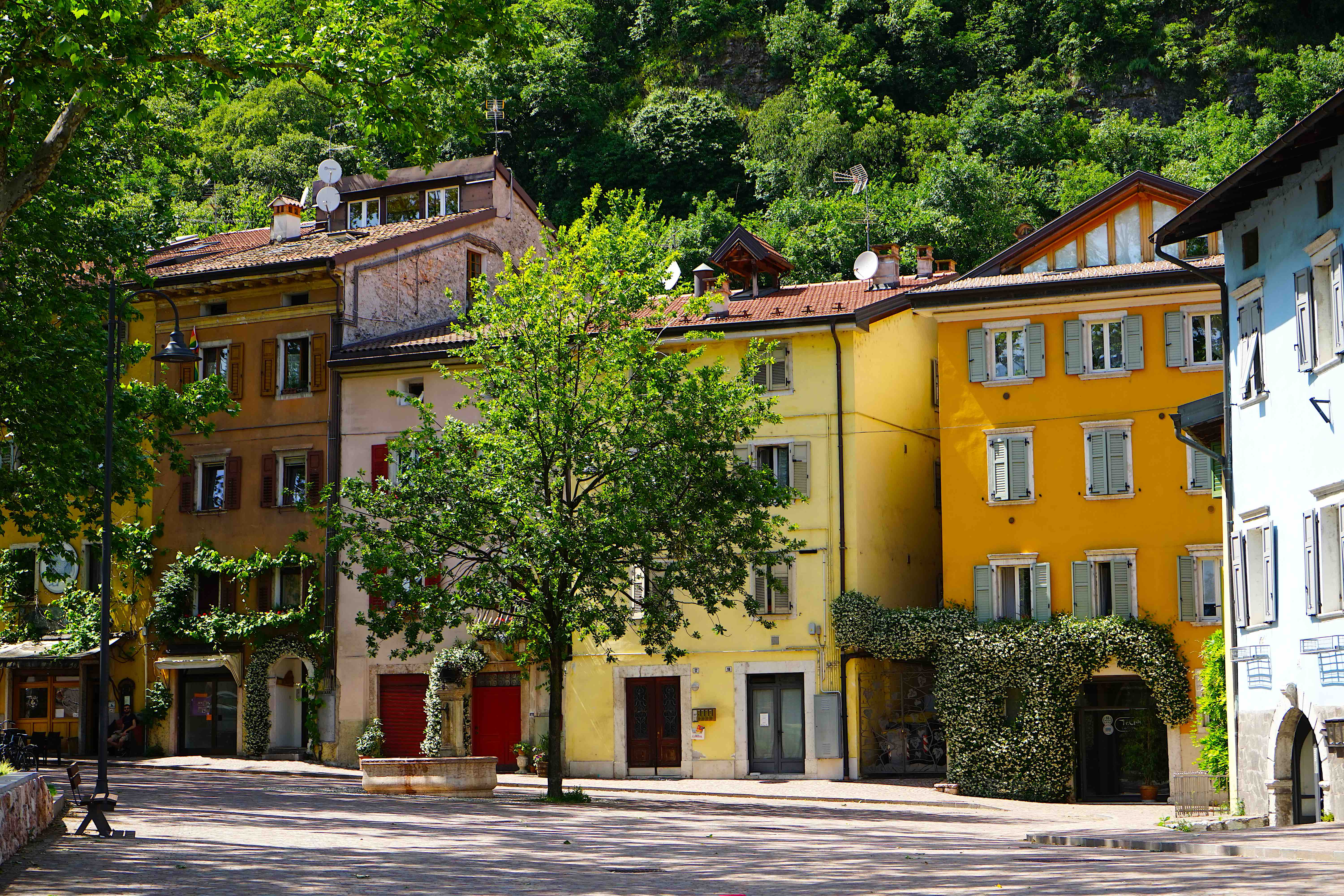 Colorful houses in Trento