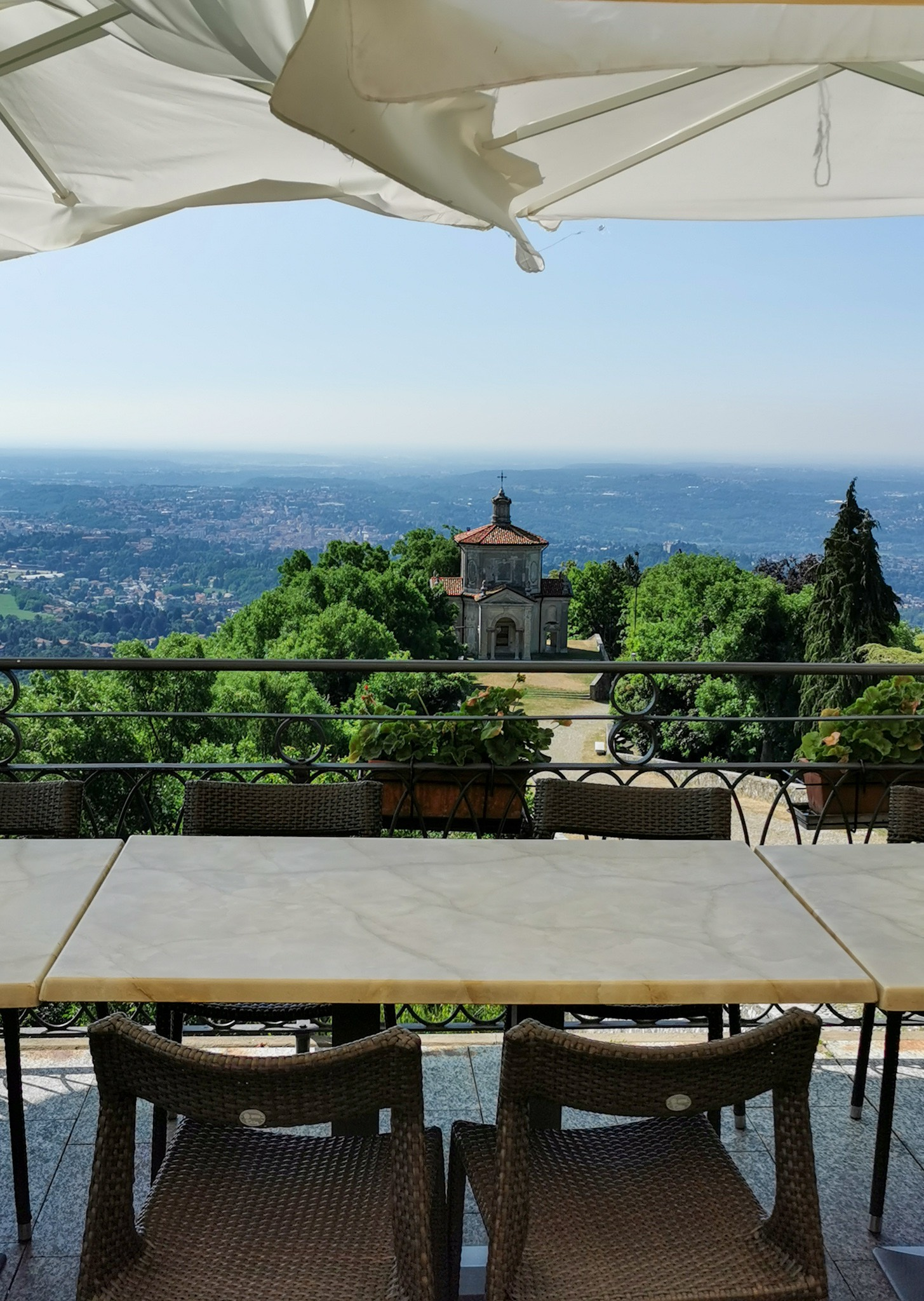 The view from Montorfano café in Santa Maria del Monte near Varese