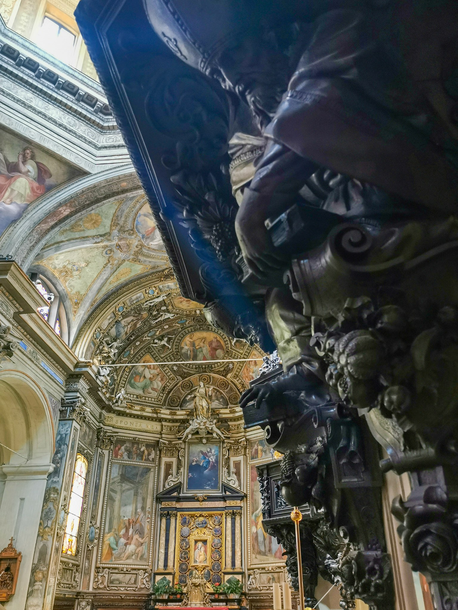 The interior of the Basilica of San Vittore in Varese