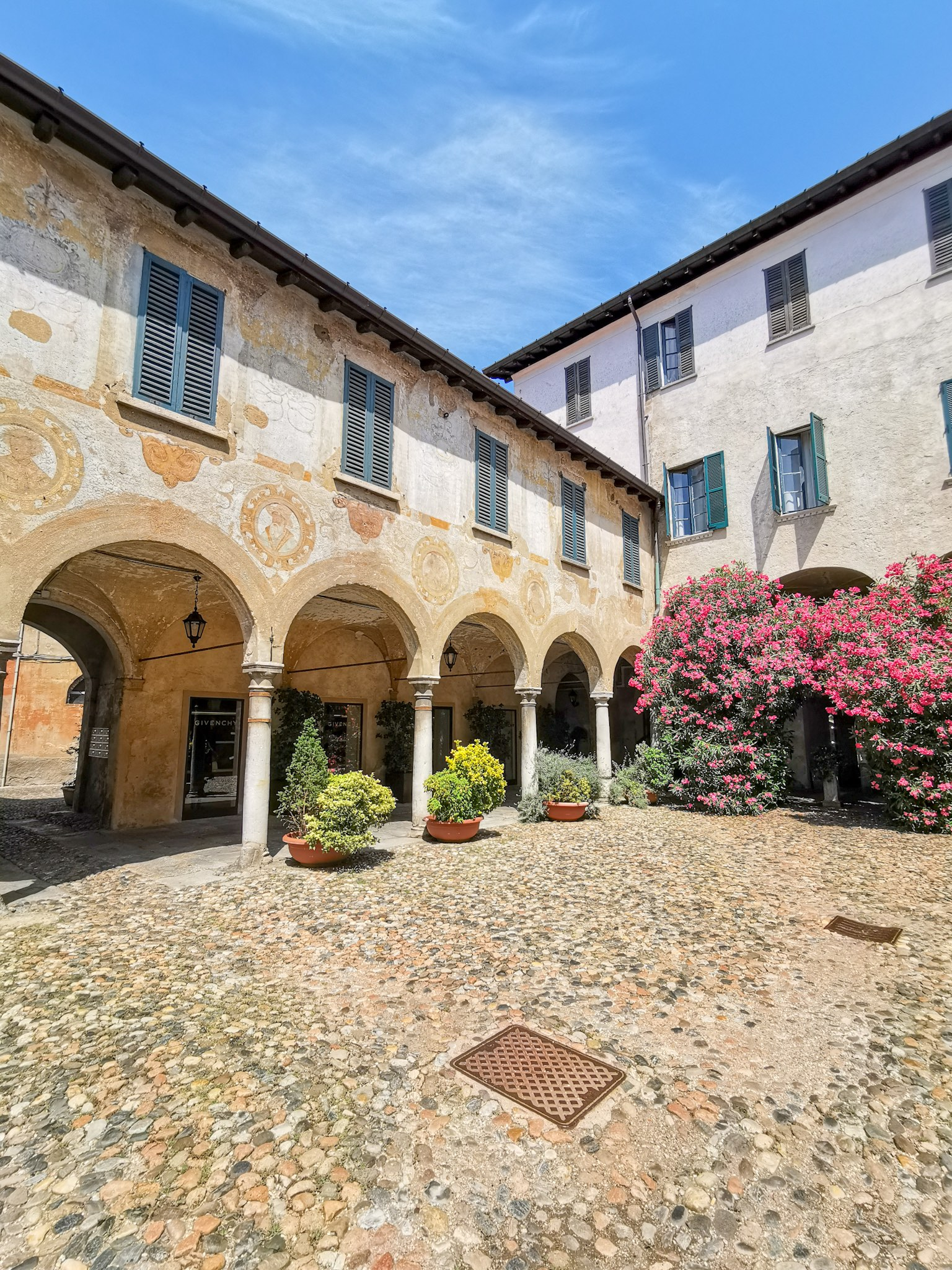 The Broletto courtyard in Varese