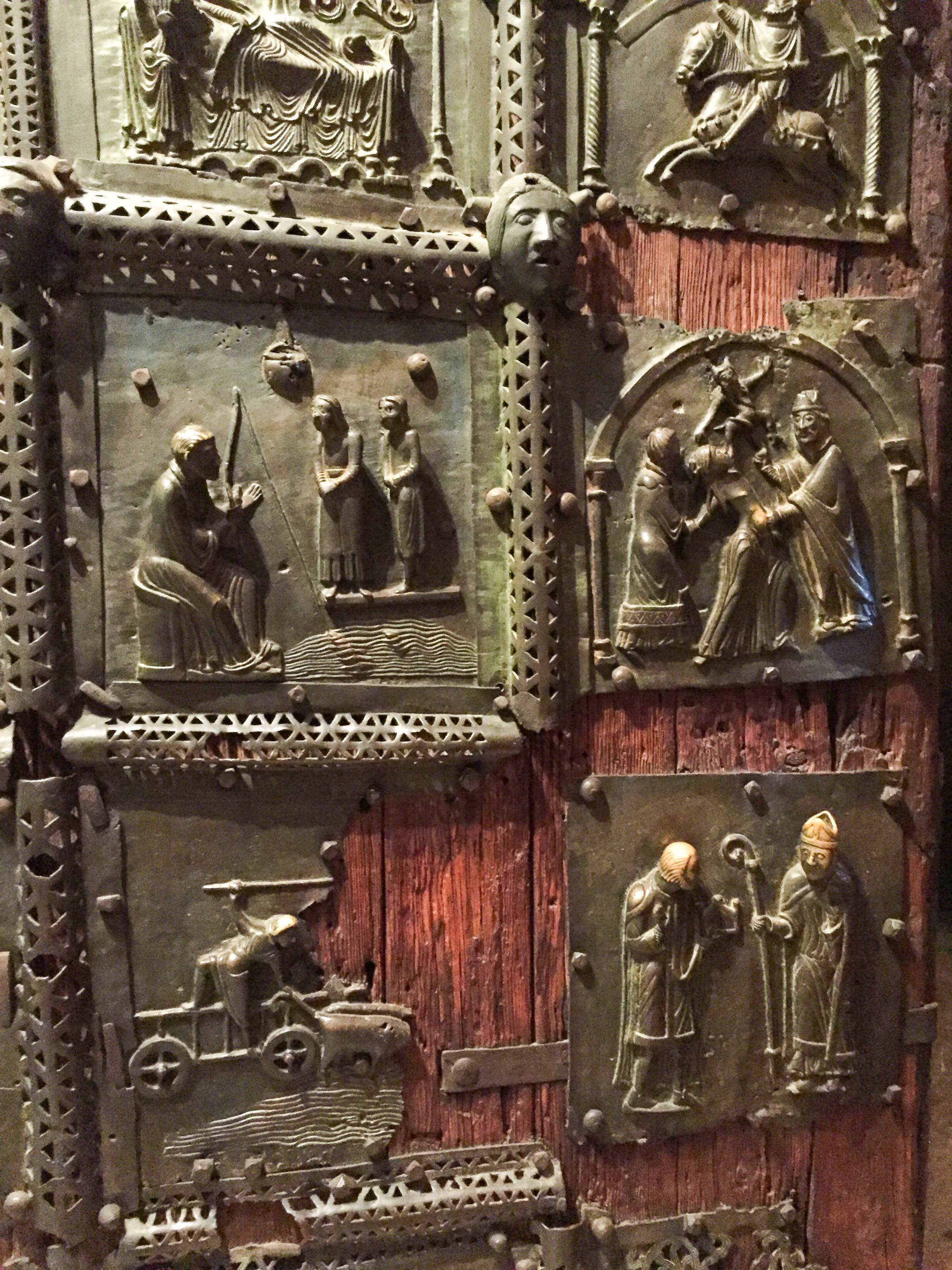 Bronze door in the Church of San Zeno in Verona