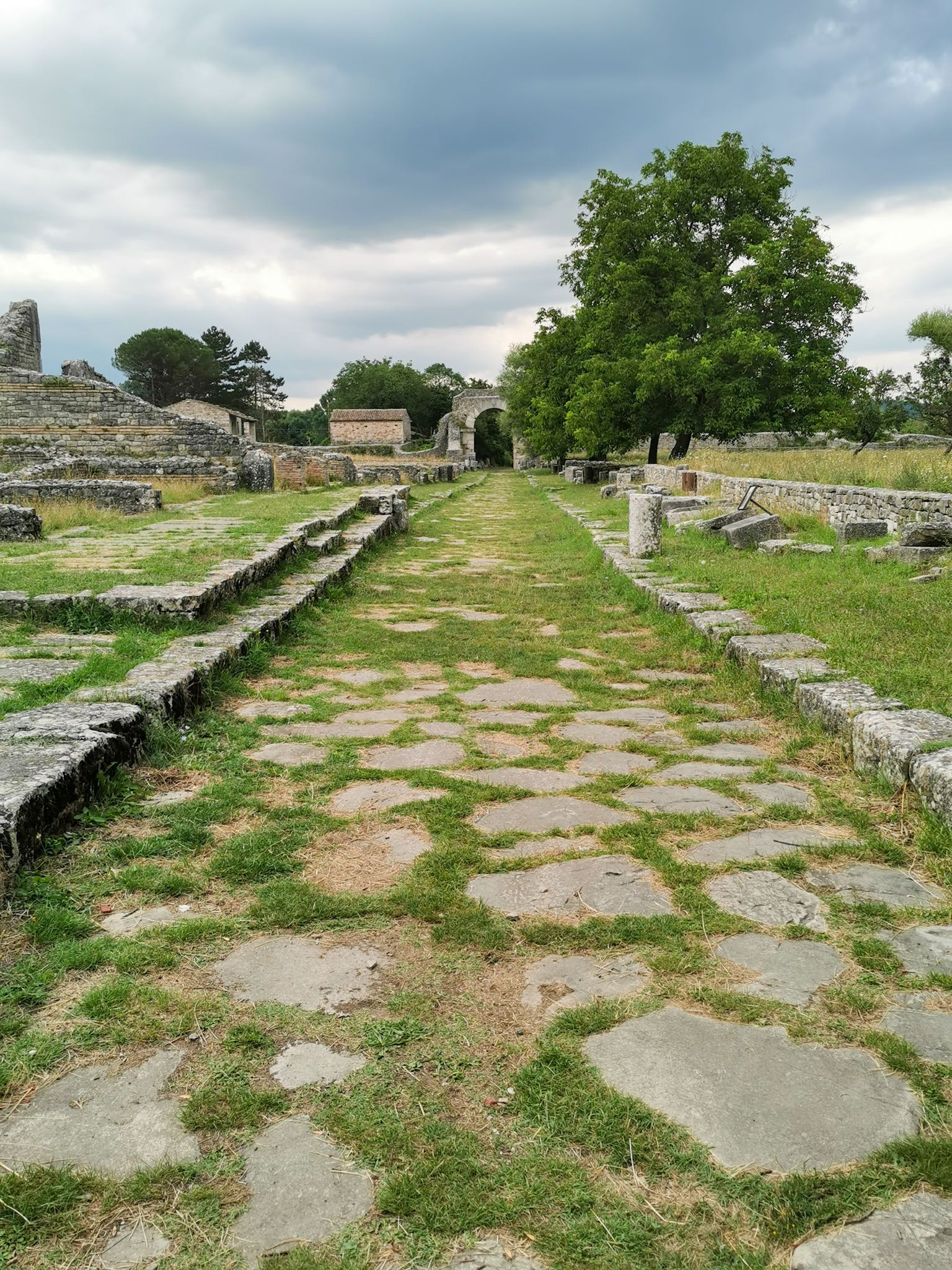 Altilia archeological site in Molise