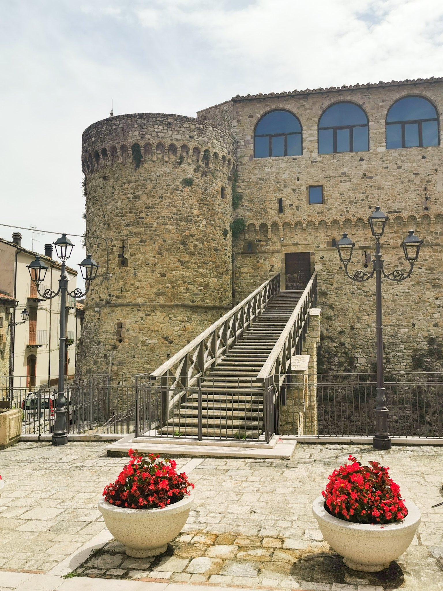 The Angevine castle of Civitacampomarano, in the Italian region of Molise