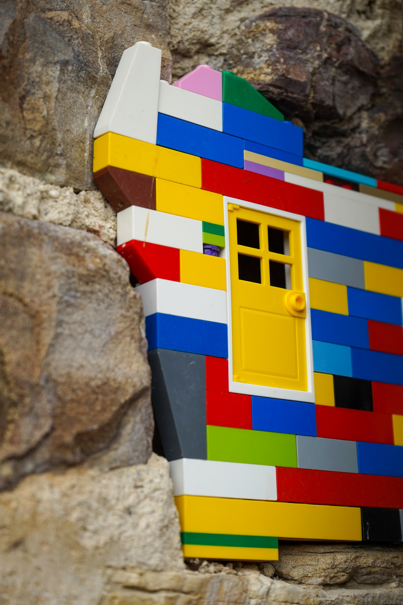 Street art with Lego at Civitacampomarano, in the Italian region of Molise