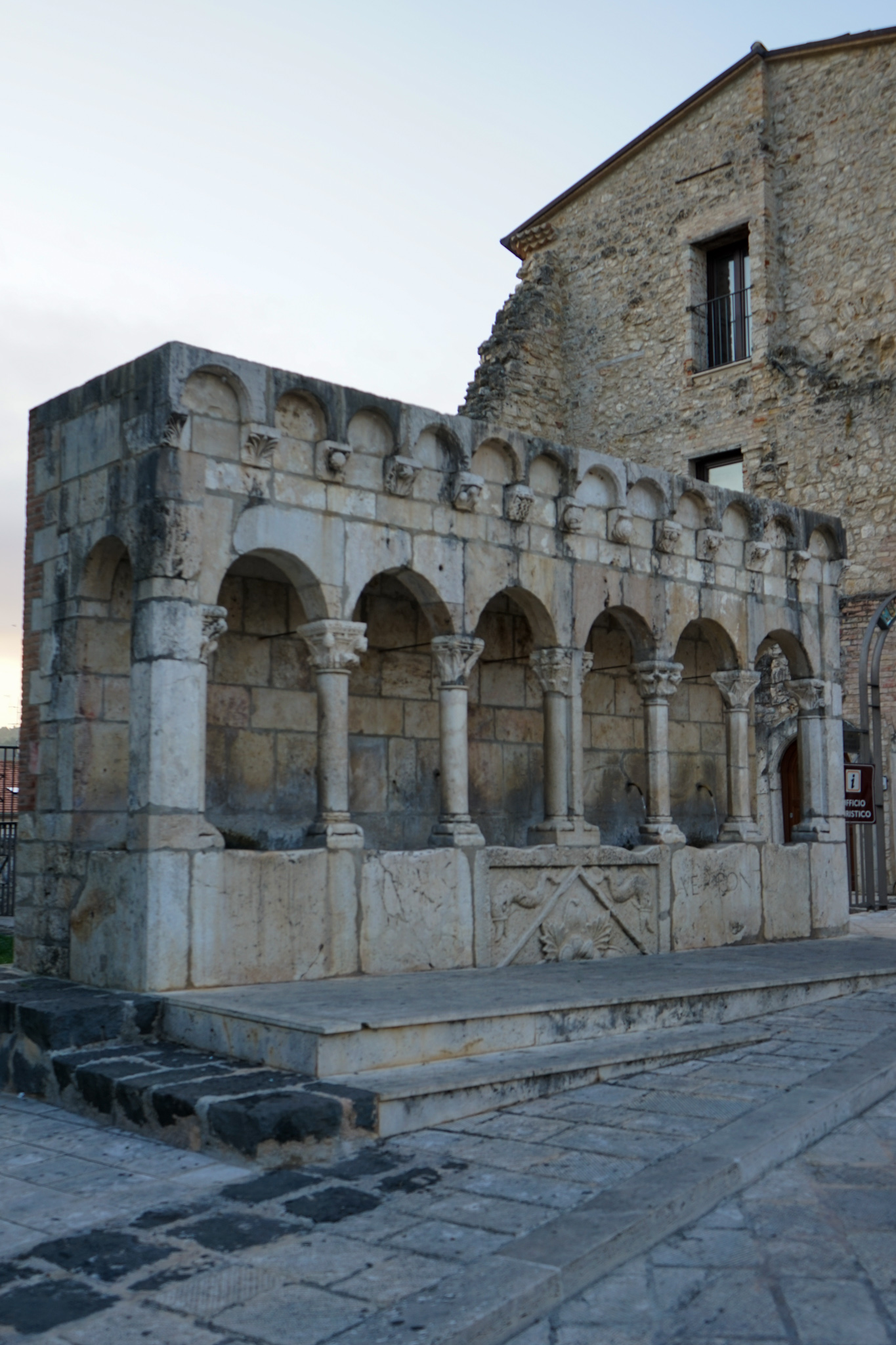 The fraternal fountain of Isernia, in the region of Molise