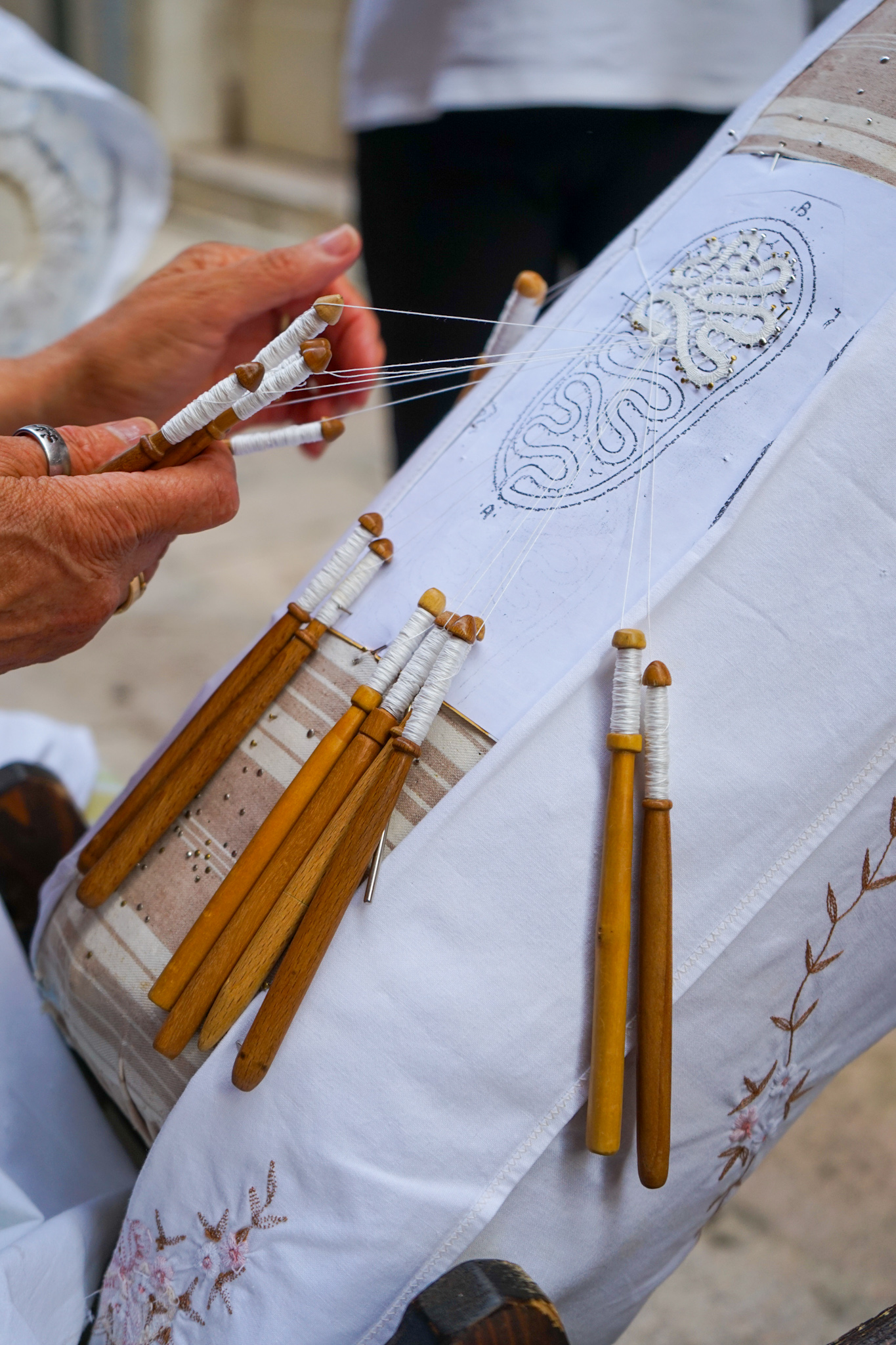 The ancient lace-making tradition in Isernia, in the region of Molise