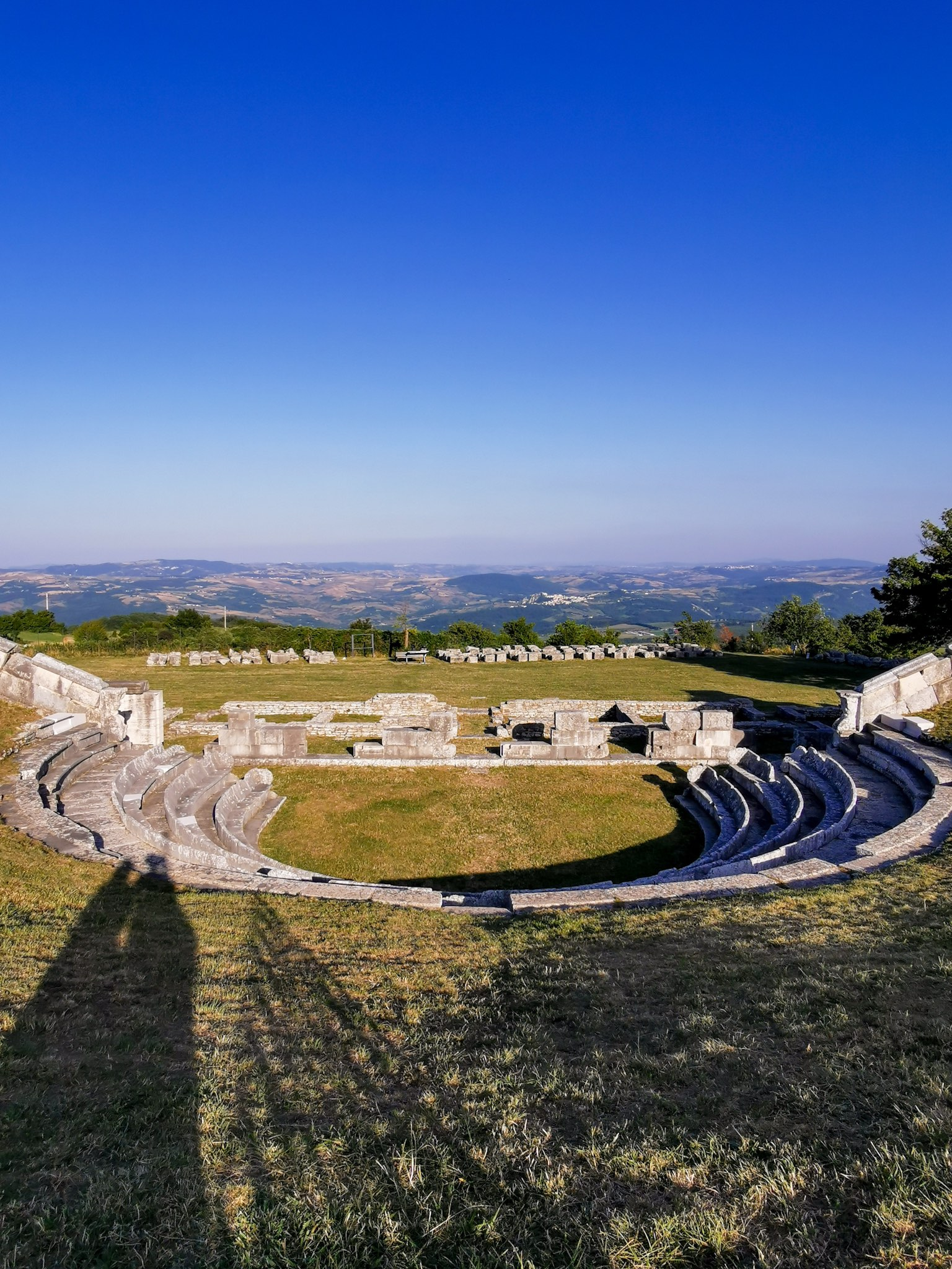 Pietrabbondante archeological site in Molise