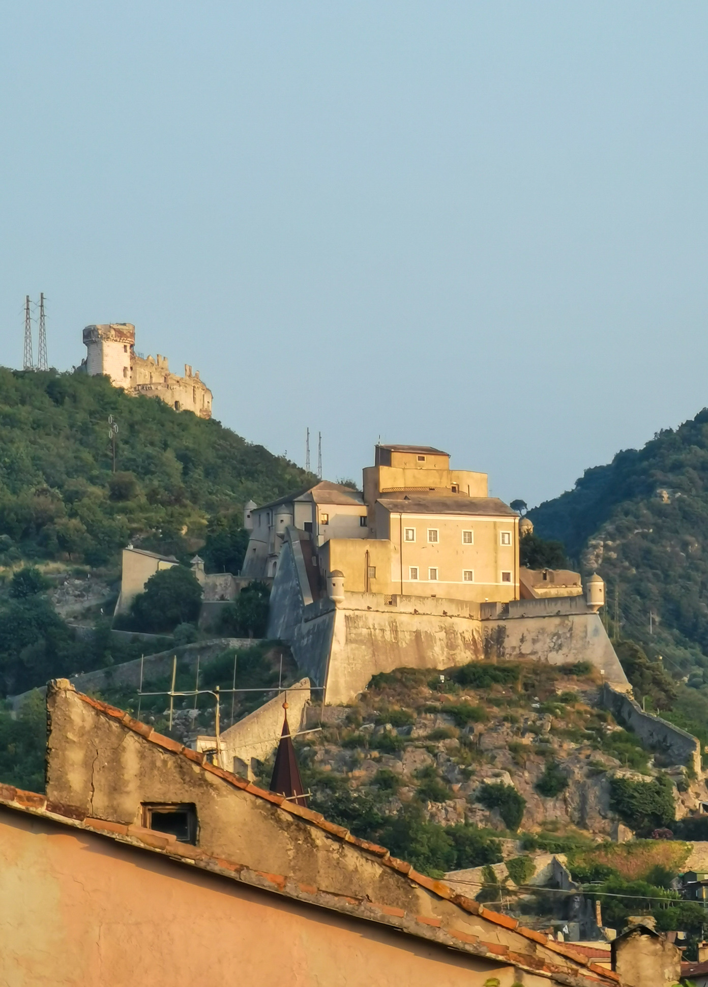 The Fort of San Giovanni in the medieval hamlet of Finalborgo in Liguria