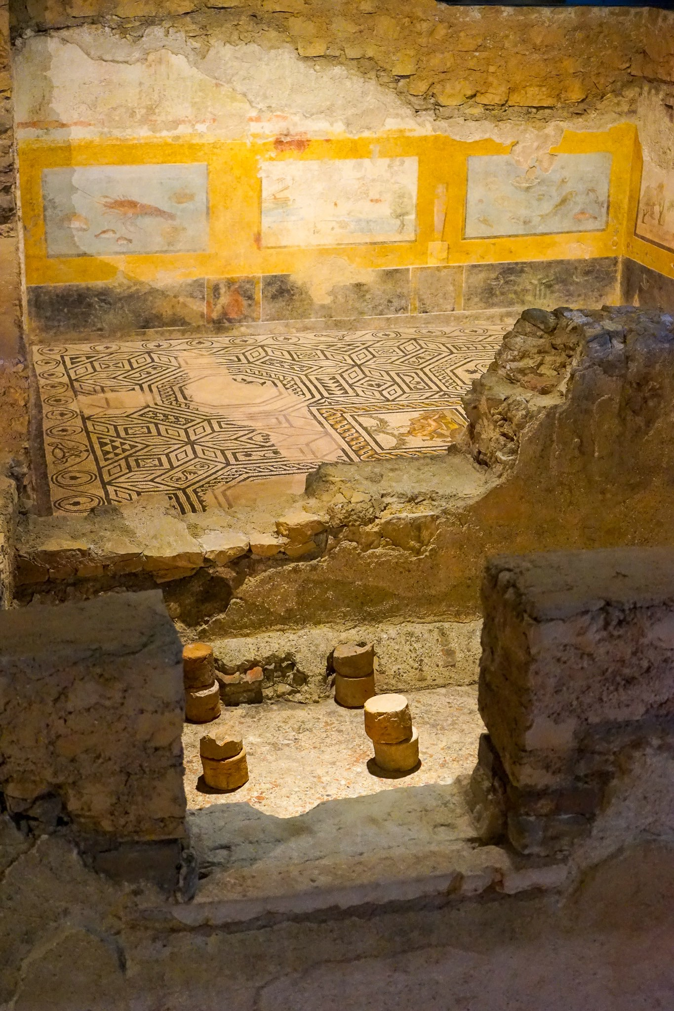 The remains of a Roman domus at Santa Giulia complex in Brescia