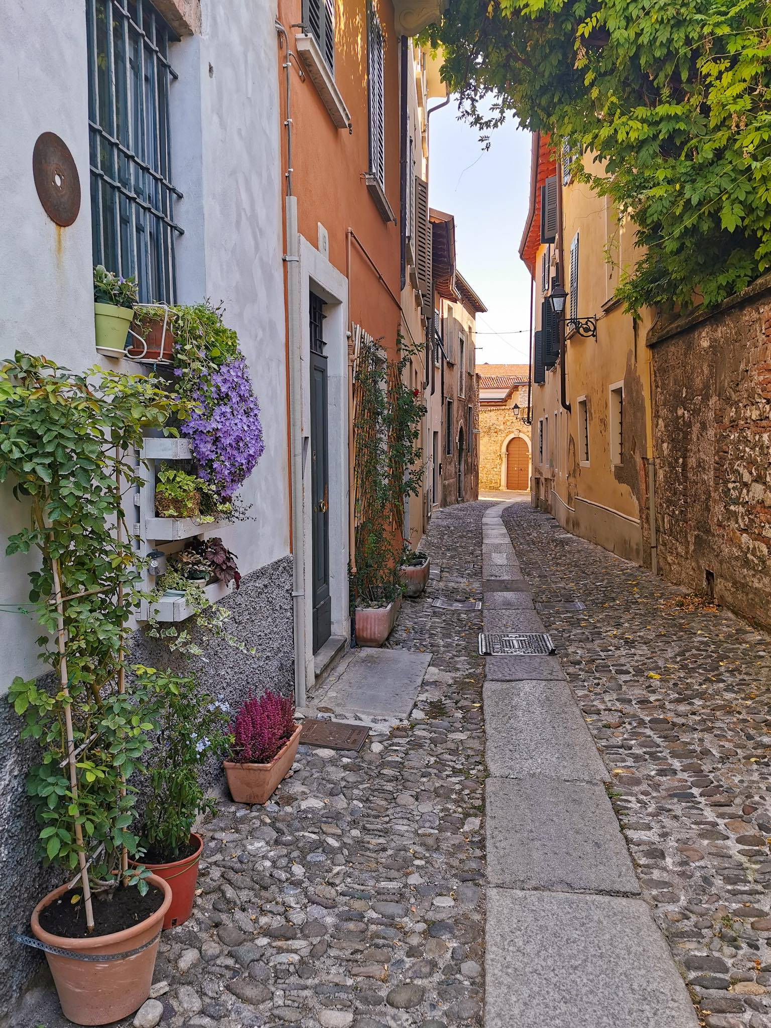 Charming back streets in Brescia