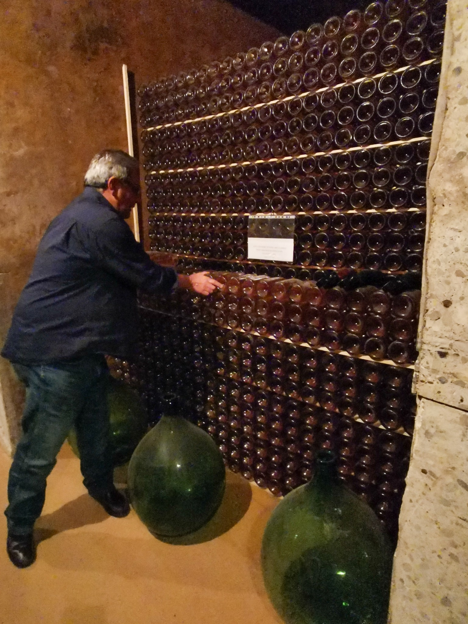 The cellar of Cantina Scuropasso in Oltrepò Pavese