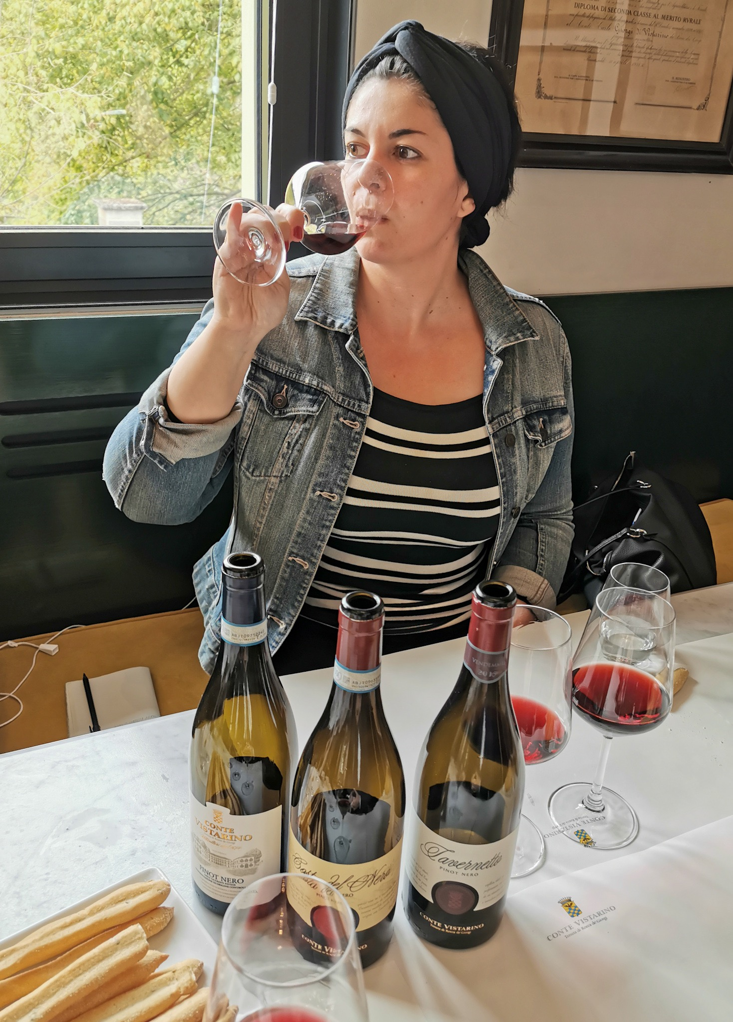 Wine tasting at Conte Vistarino winery in Oltrepò Pavese