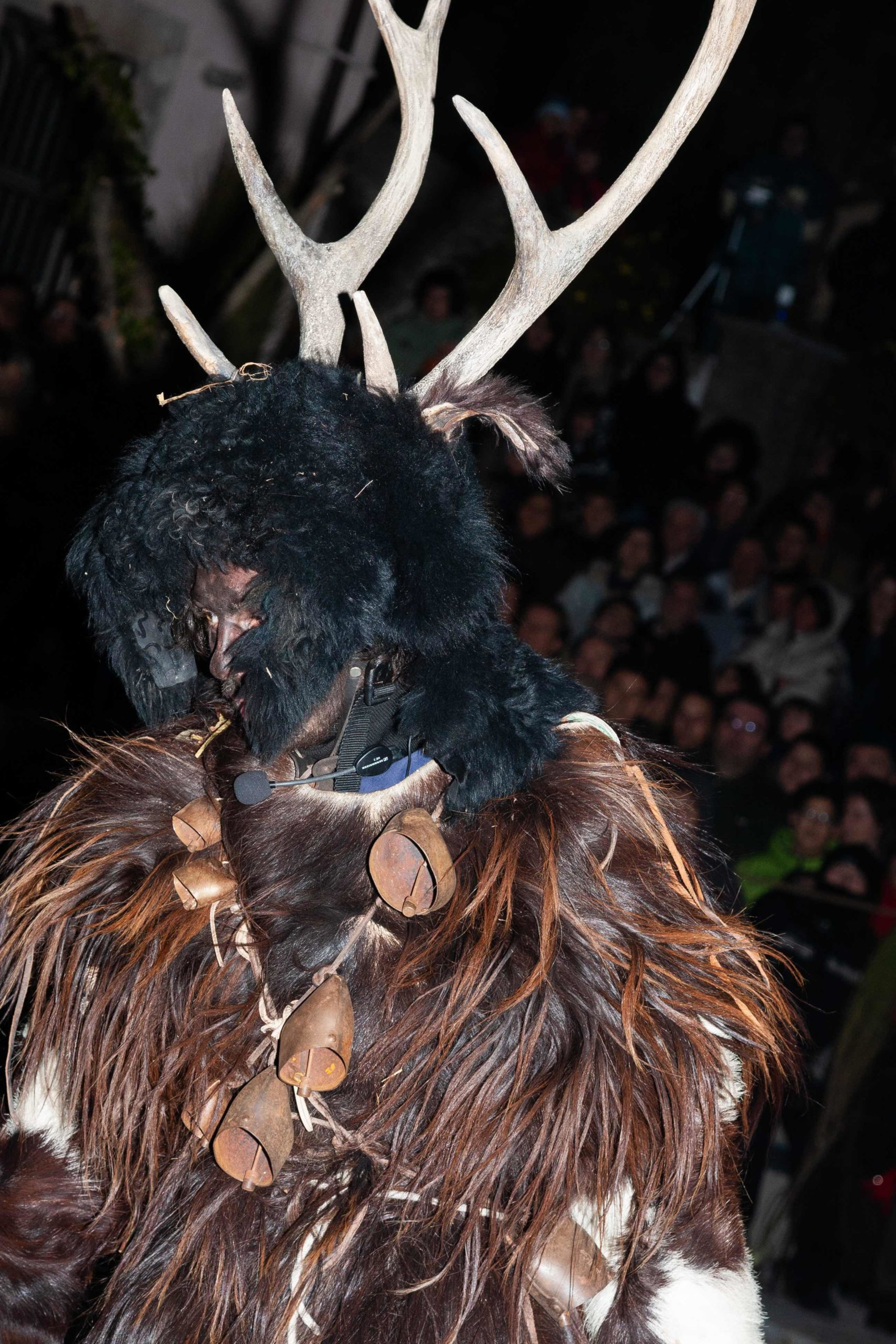 The man's deer ritual, called Gl'Cierv (Uomo Cervo), an Italian traditional carnival