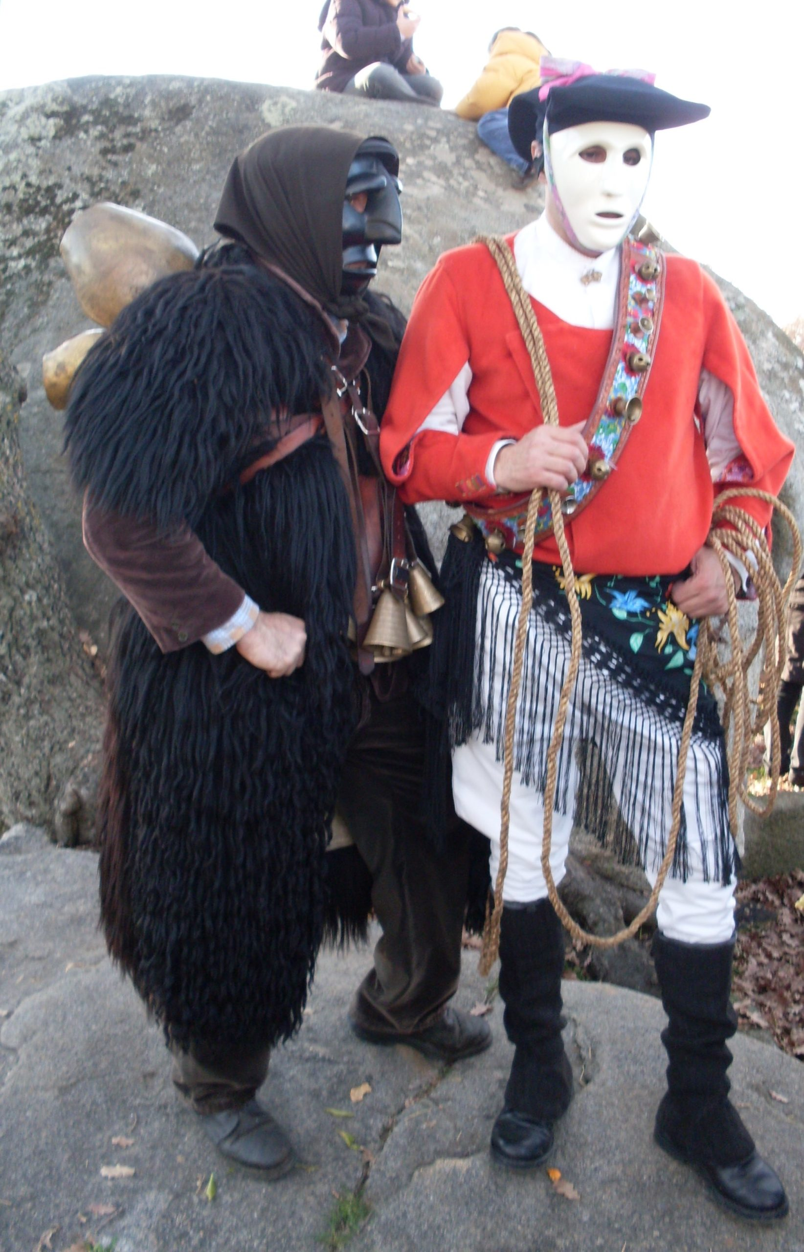 Mamuthones and Issohadores at the Carnival of Mamoiada in Sardinia