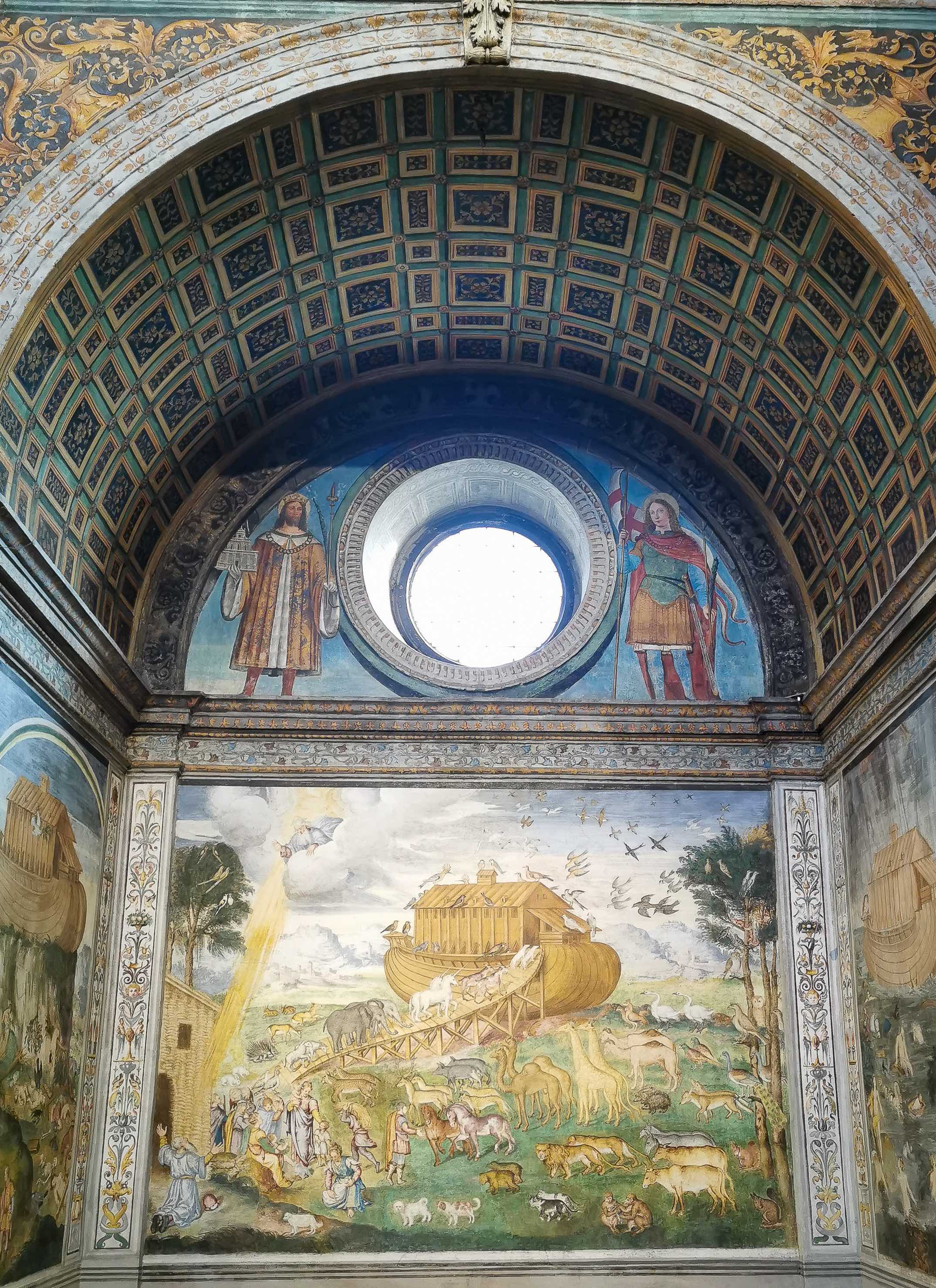 The beautiful frescoes at the Church of San Maurizio al Monastero Maggiore in Milan
