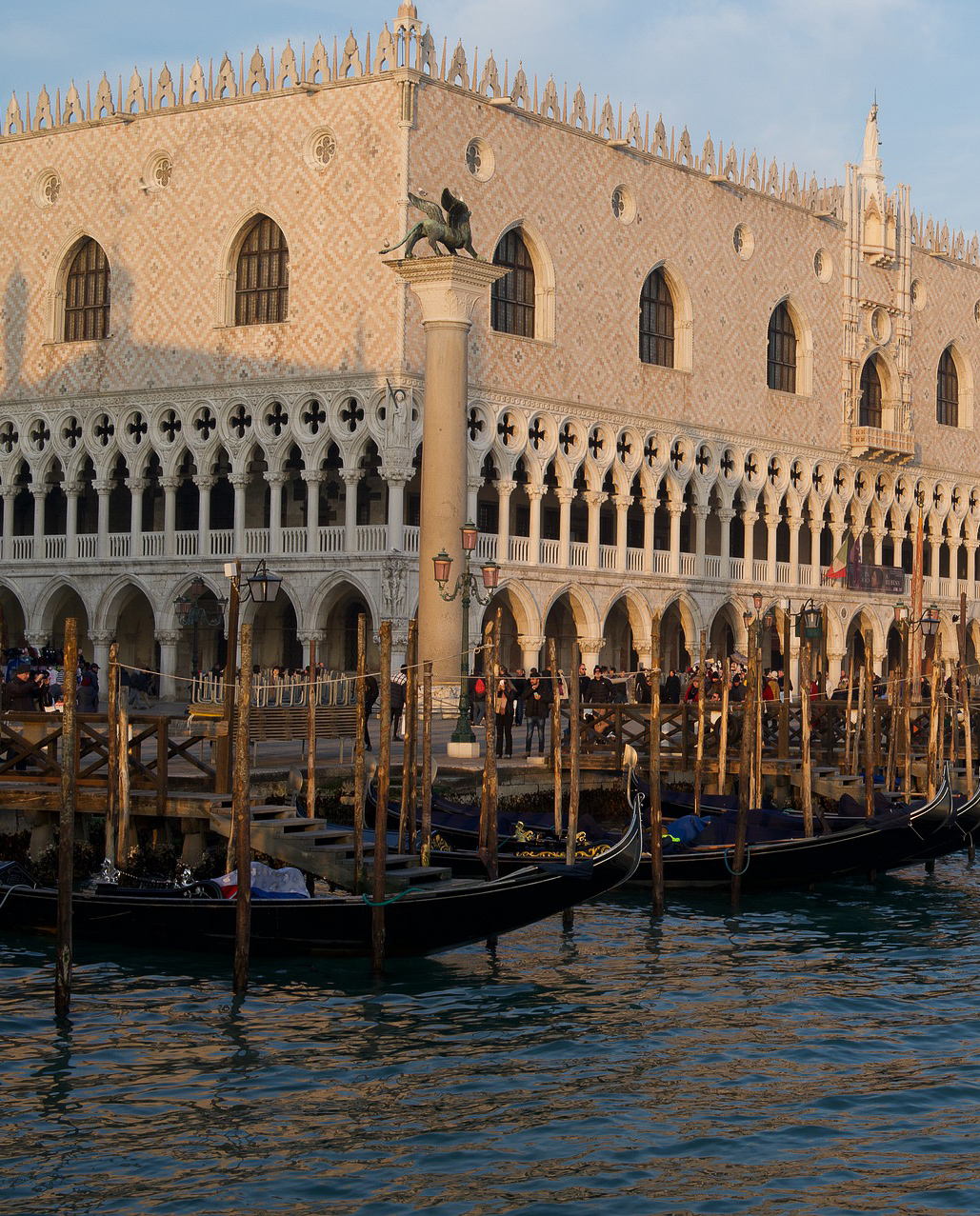 The Doge's Palace in St. Mark's Square, which used to be the seat of the government during the Venetian Republic