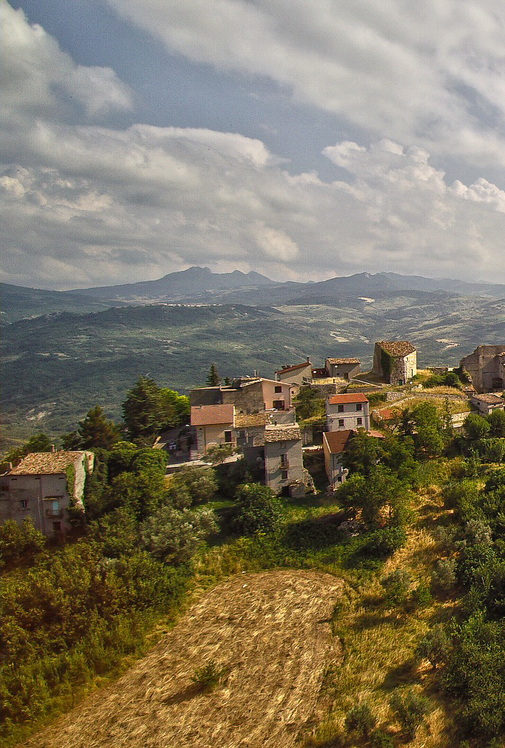 Aerial view of the Abruzzo countryside