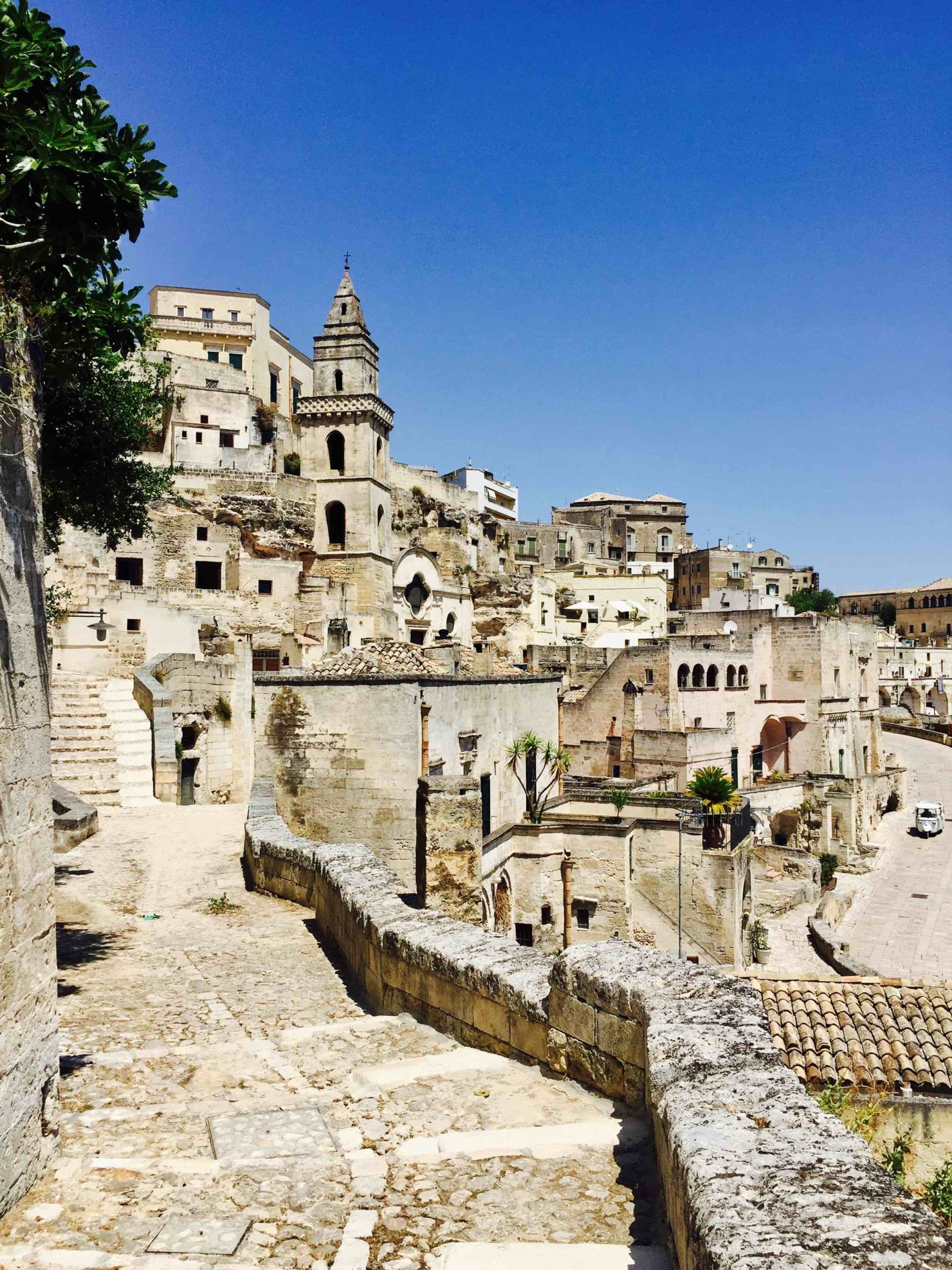 A view of Matera, the beautiful cave town in Basilicata