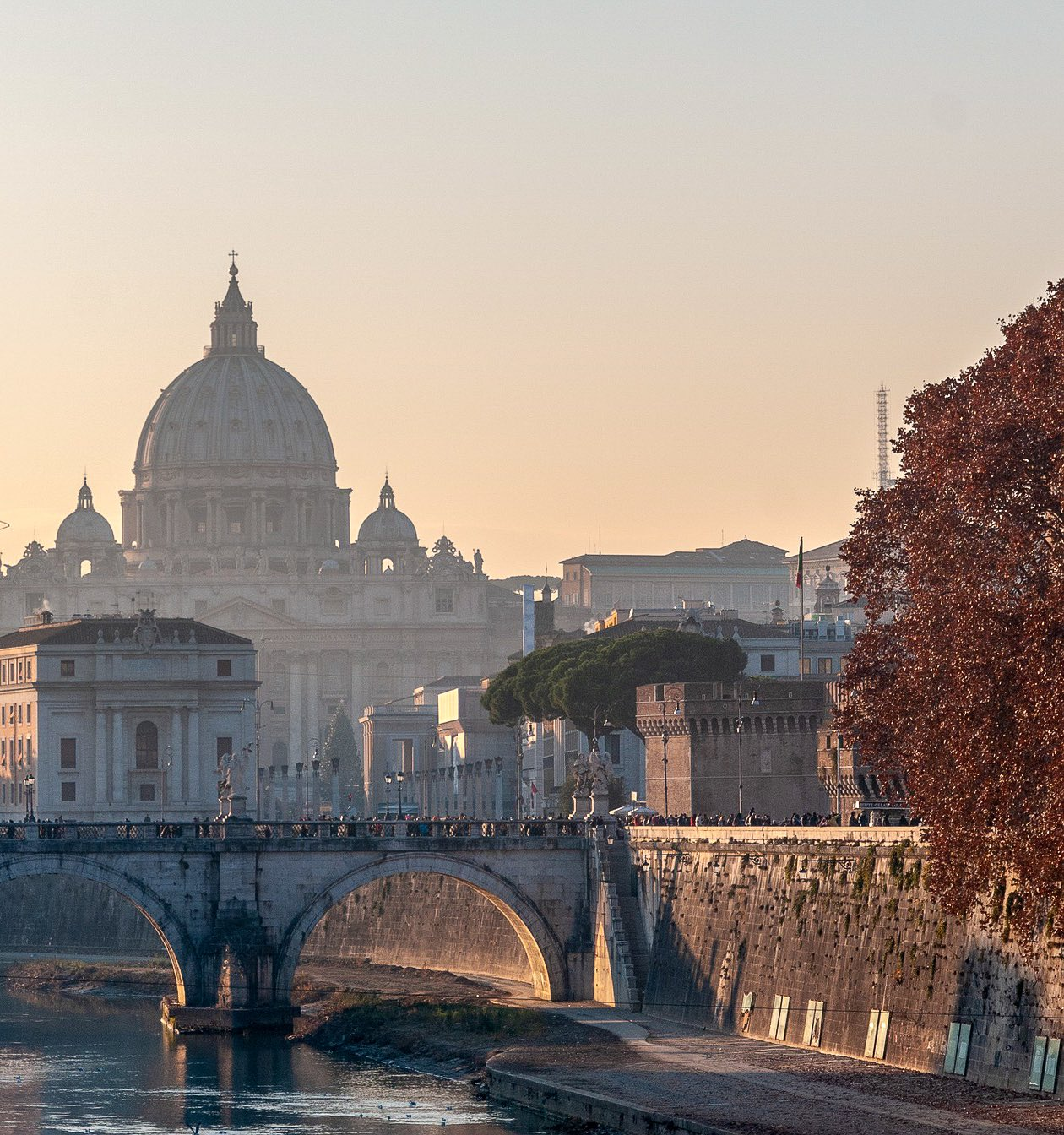 A panoramic view of Rome