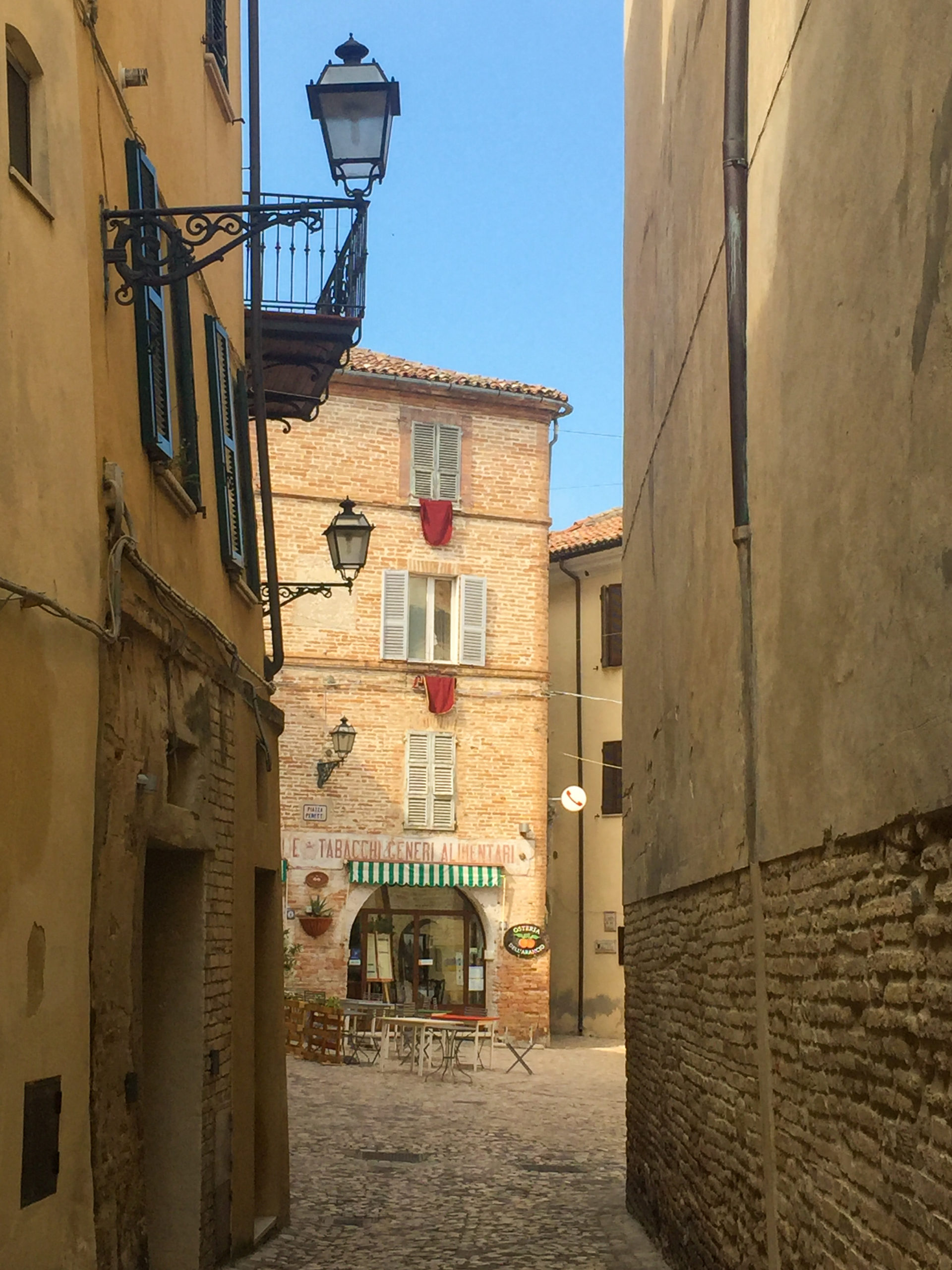 The old town of Grottammare, a lovely seaside town in the region of Le Marche
