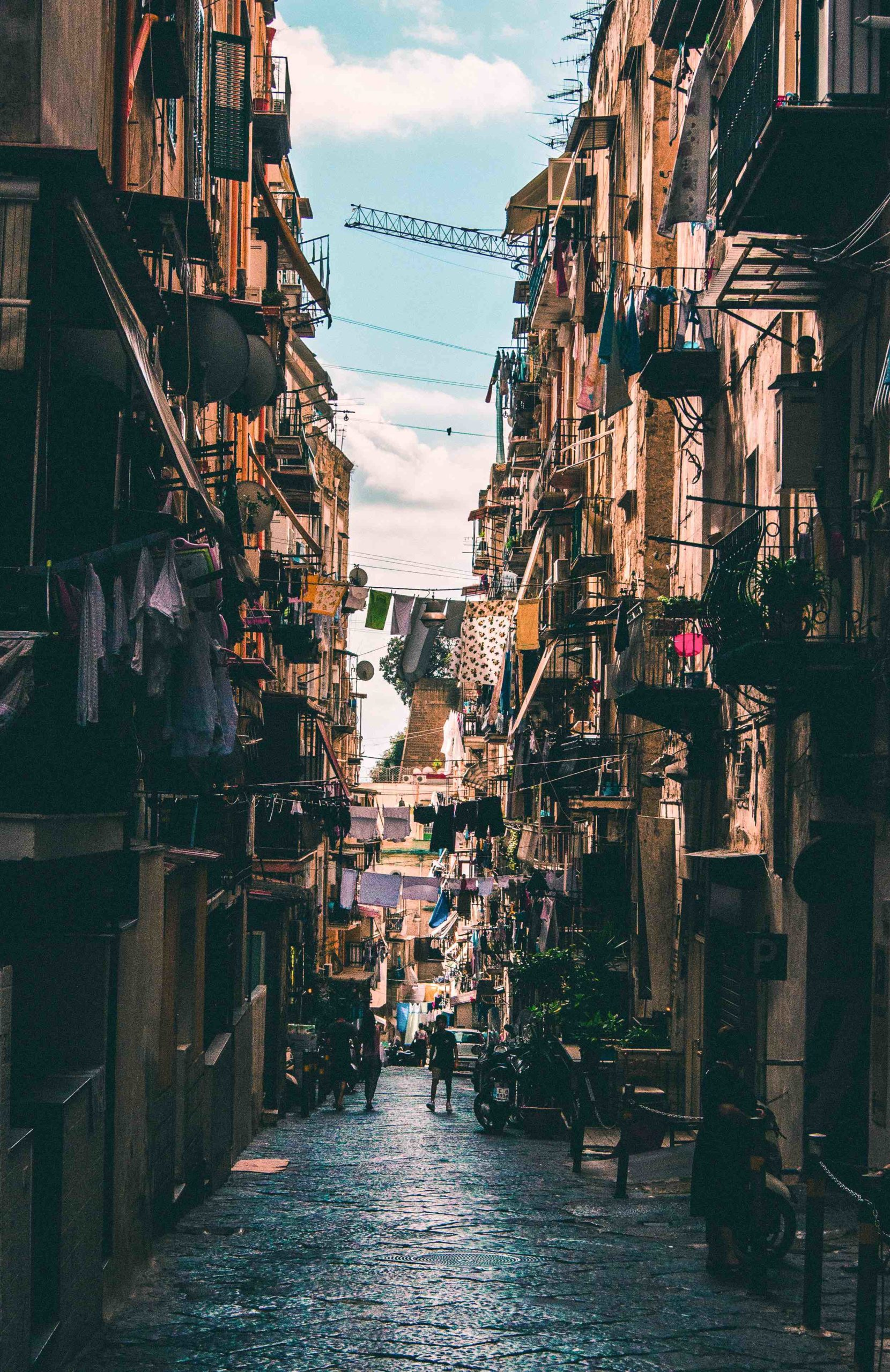 A busy street in Naples