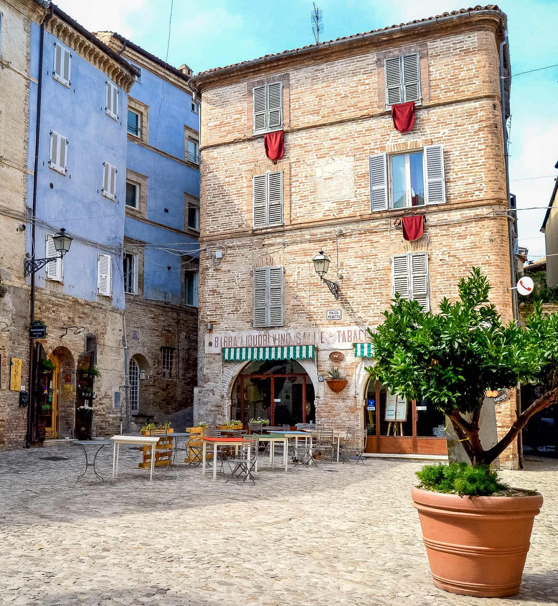The old town of Grottammare, one of the most beautiful beach town in the region of Le Marche