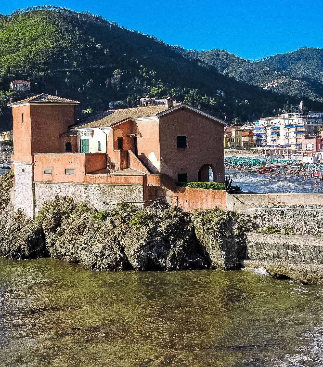 The coastal town of Levanto in Liguria