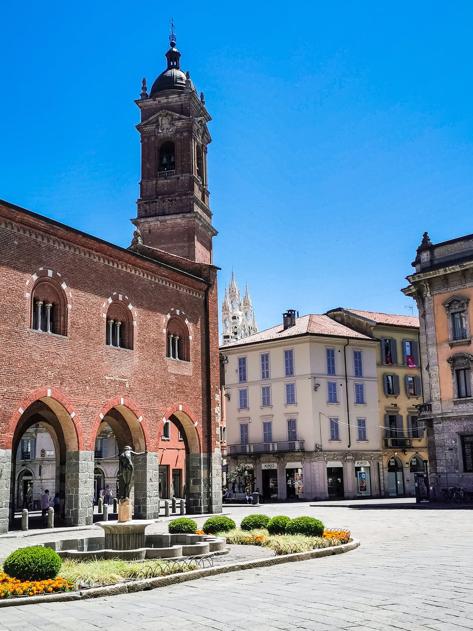 The Arengario, the old seat of the locat town hall, in Monza historic center