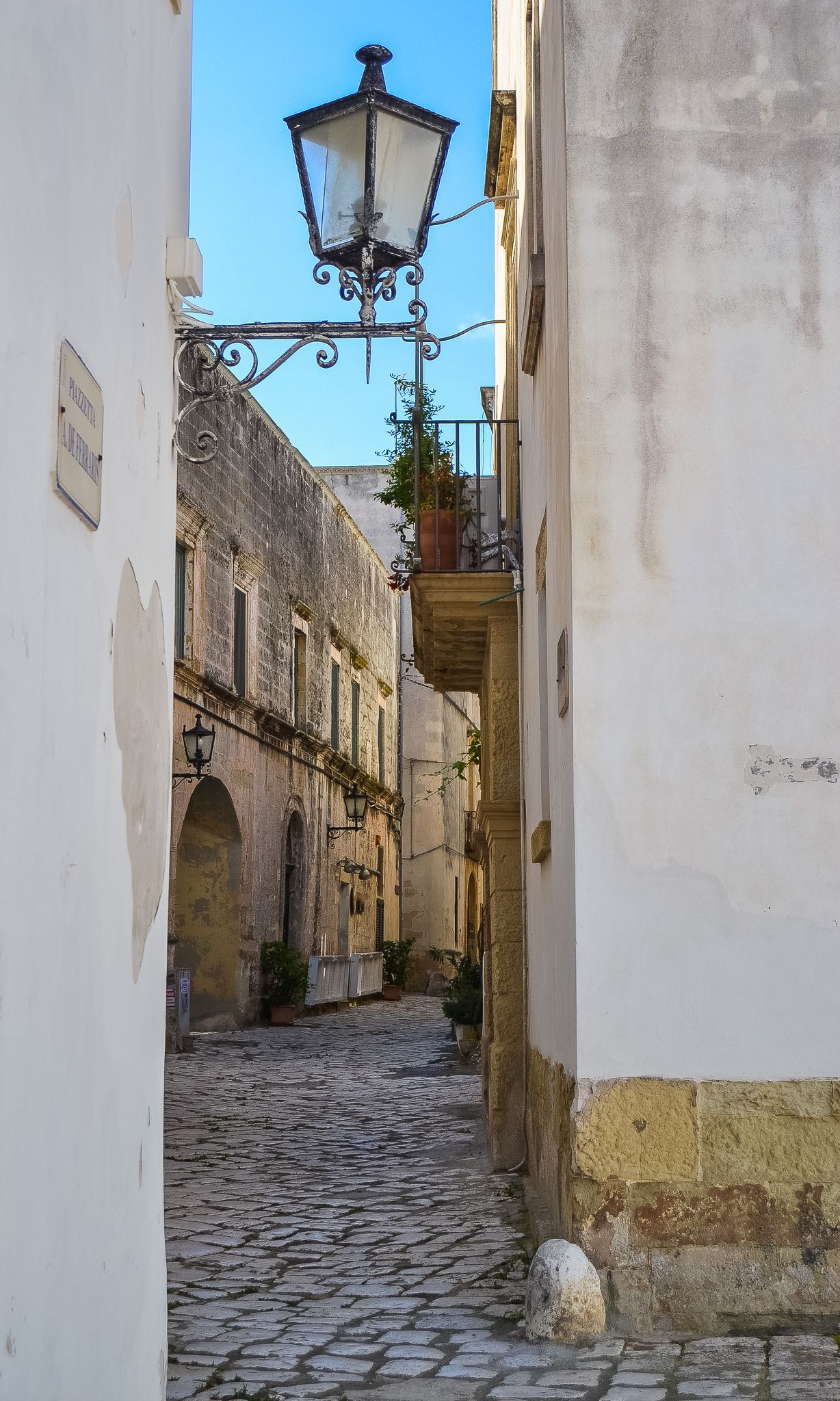 a quaint alley in Otranto, a beautiful coastal town in Puglia's Salento region