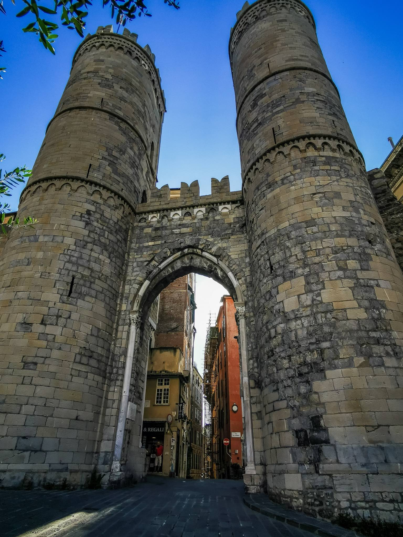 Porta Soprana, the entrance gate to Genoa