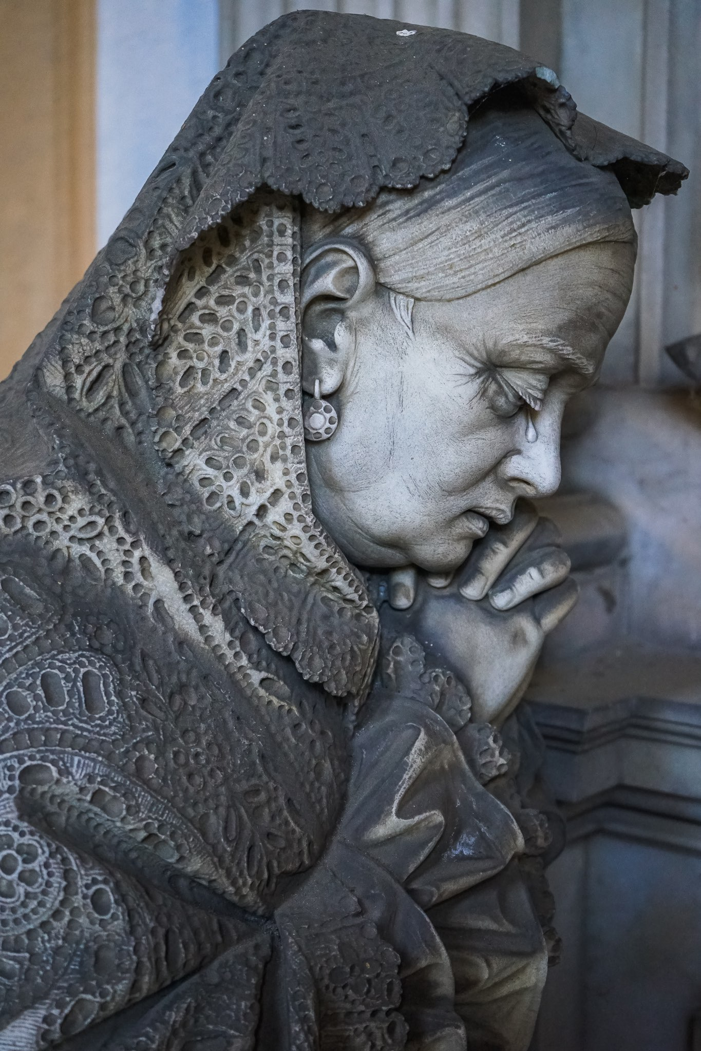 The exquisite statues at the Staglieno Cemetery in Genoa