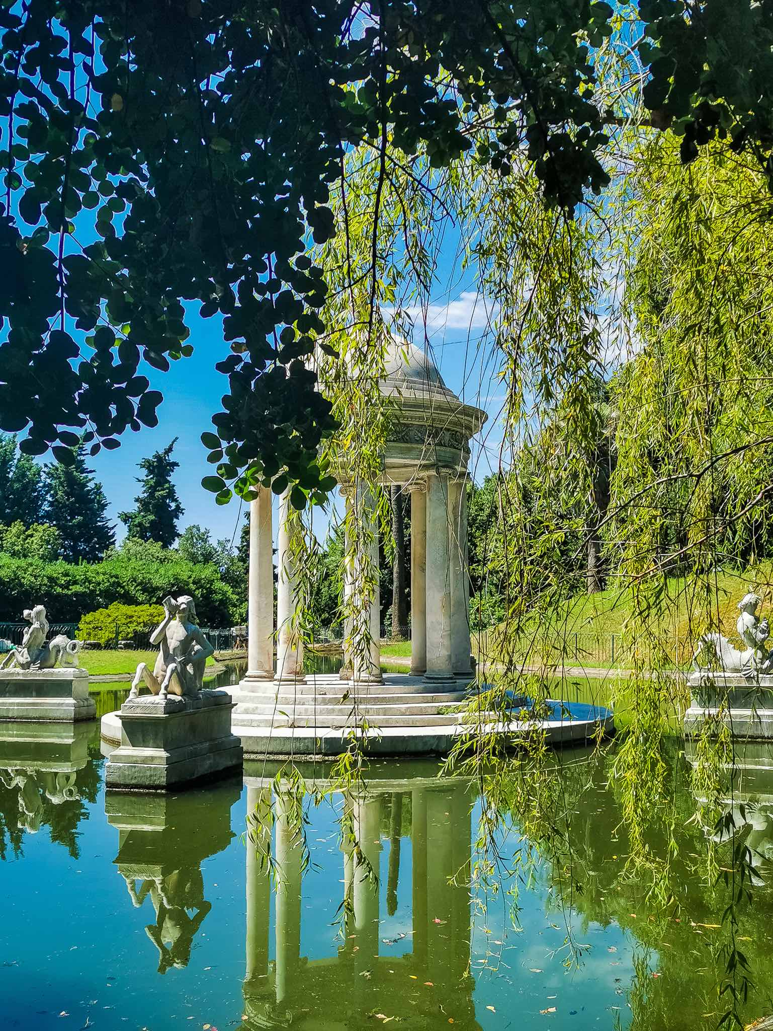 The Big Lake with the Temple of Diana in the park of Villa Durazzo Pallavicini at Pegli, on the outskirts of Genoa