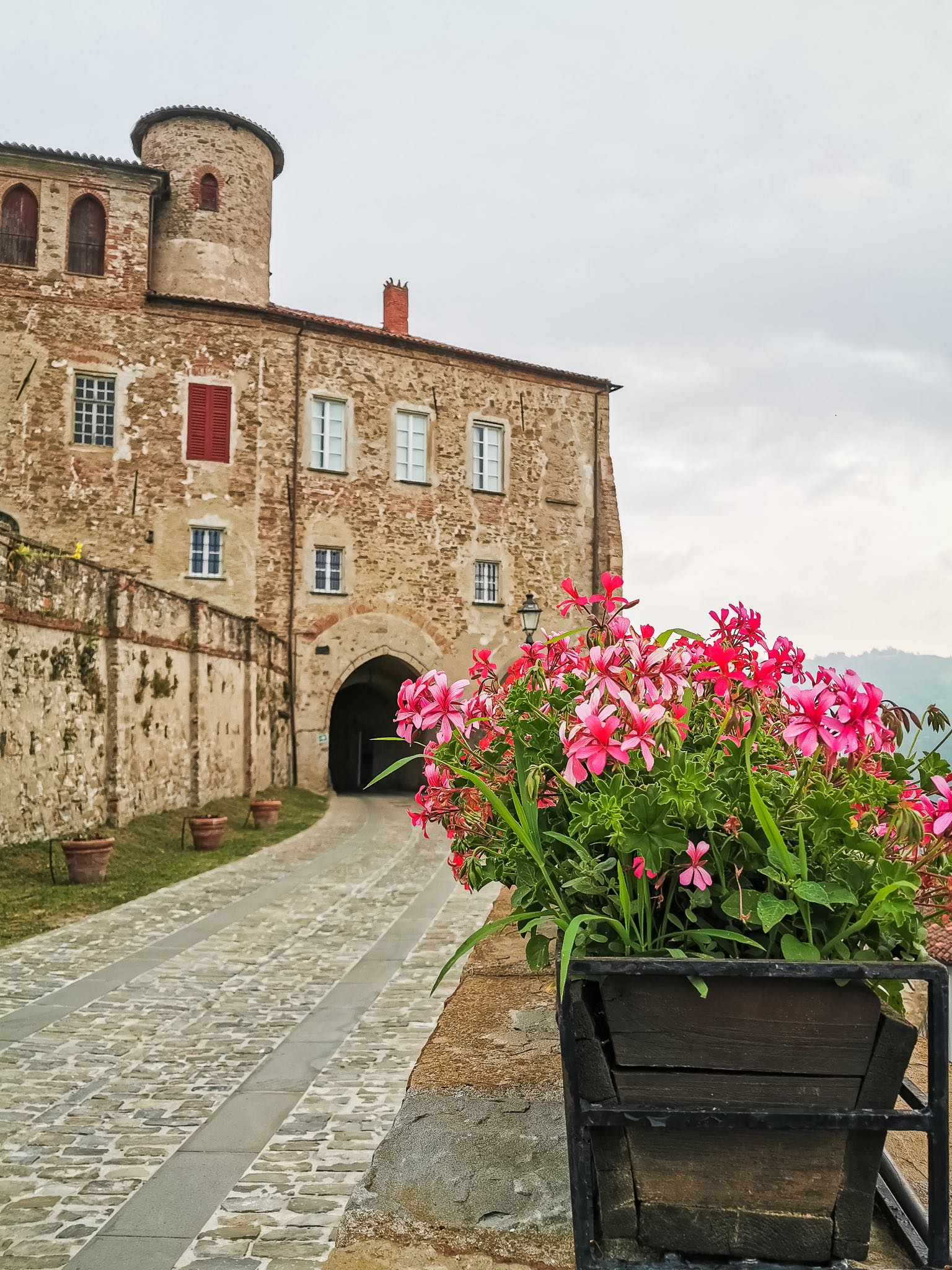 The castle of the Marquis Incisa in the village of Sale San Giovanni in Piedmont