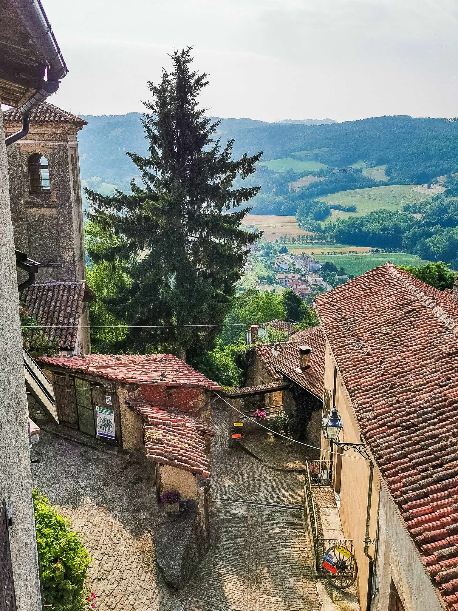 The village of Sale San Giovanni in Piedmont