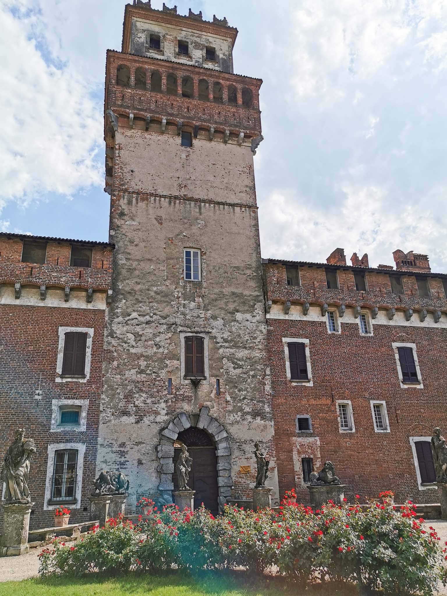 The ancient tower of the Castle of Chignolo Po