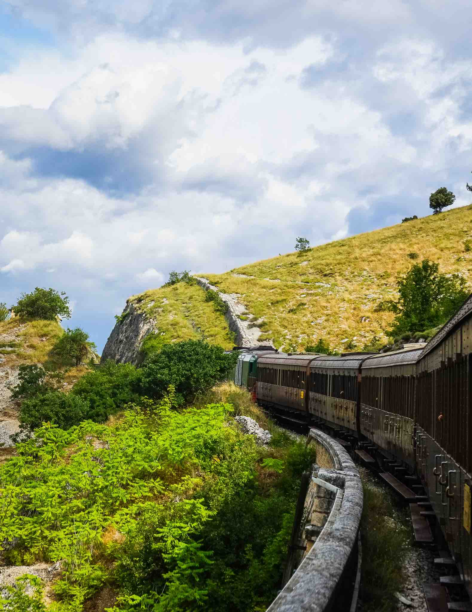 The Italian Trans-Siberian railway running though the majestic natural landscape of Abruzzo and Molise