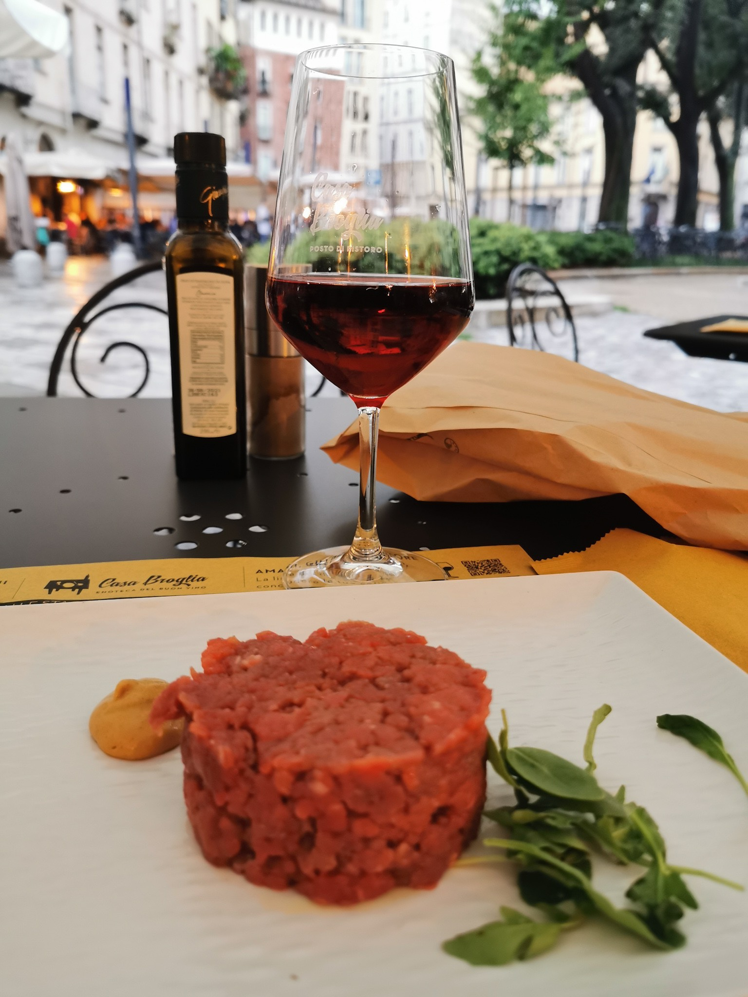 Raw meat tartare, a typical dish of Turin
