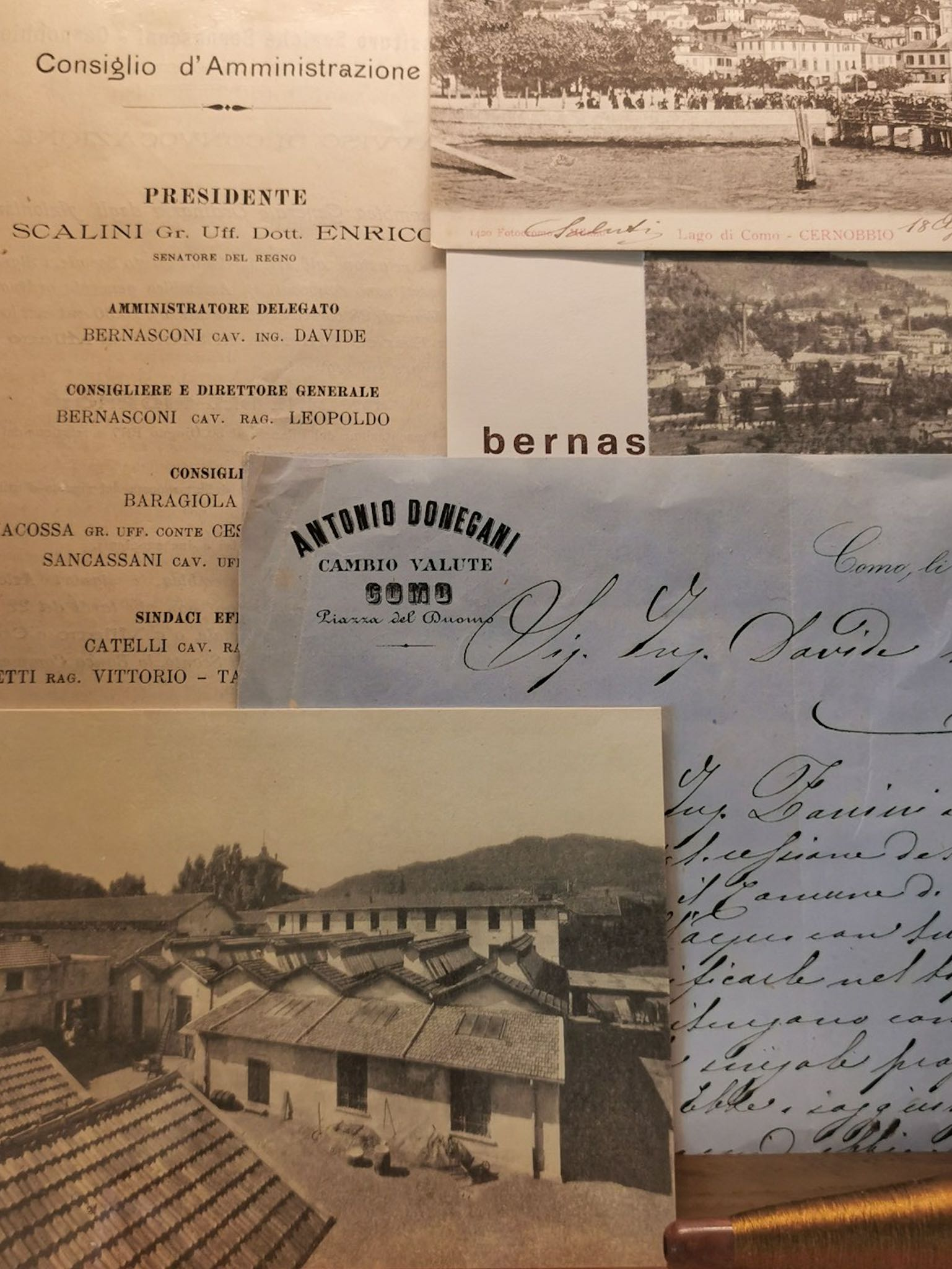 Precious documents narrating the stories of former employees on display at Villa Bernasconi in Cernobbio