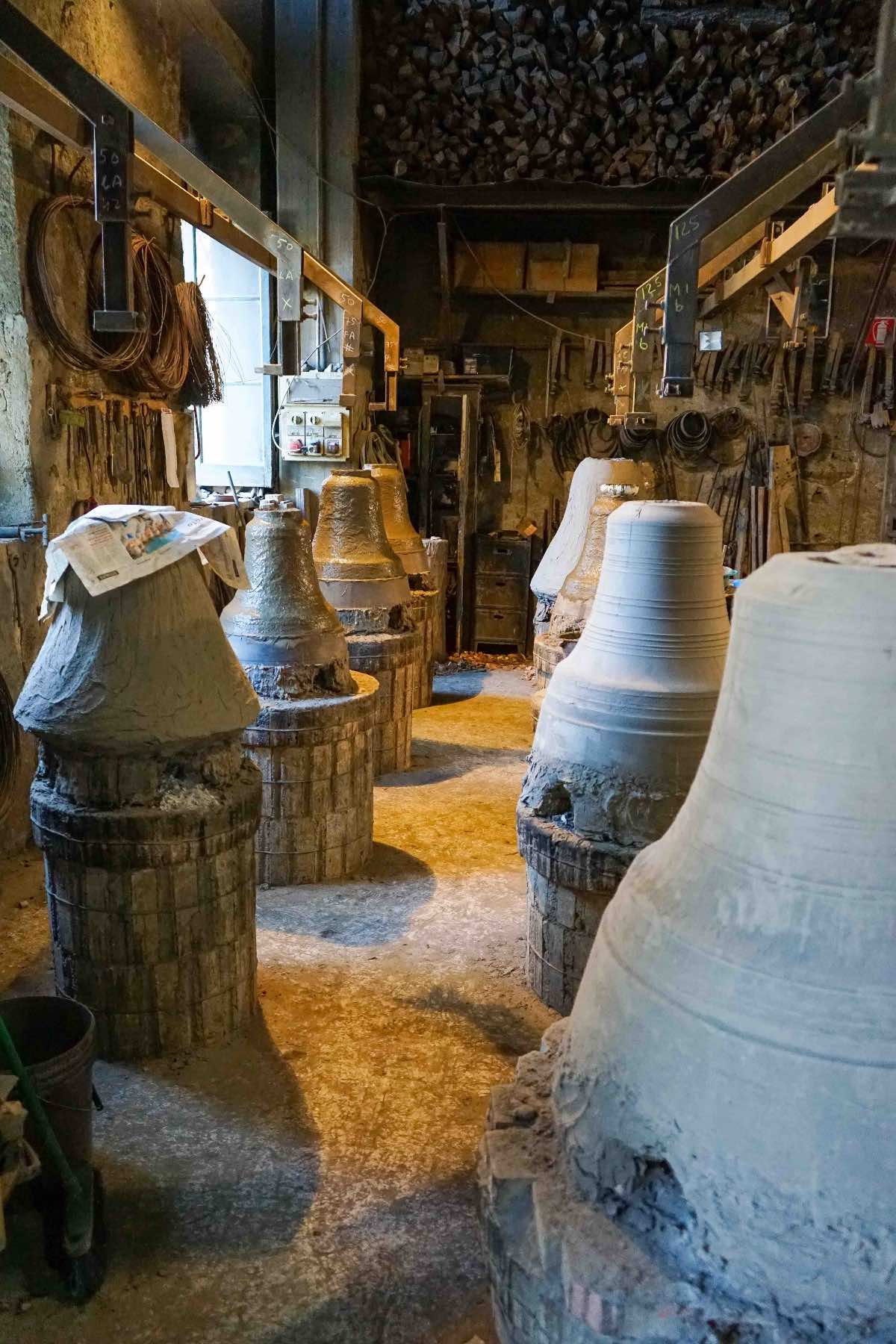 Inside the workshop of Marinelli Pontifical Foundry in Agnone