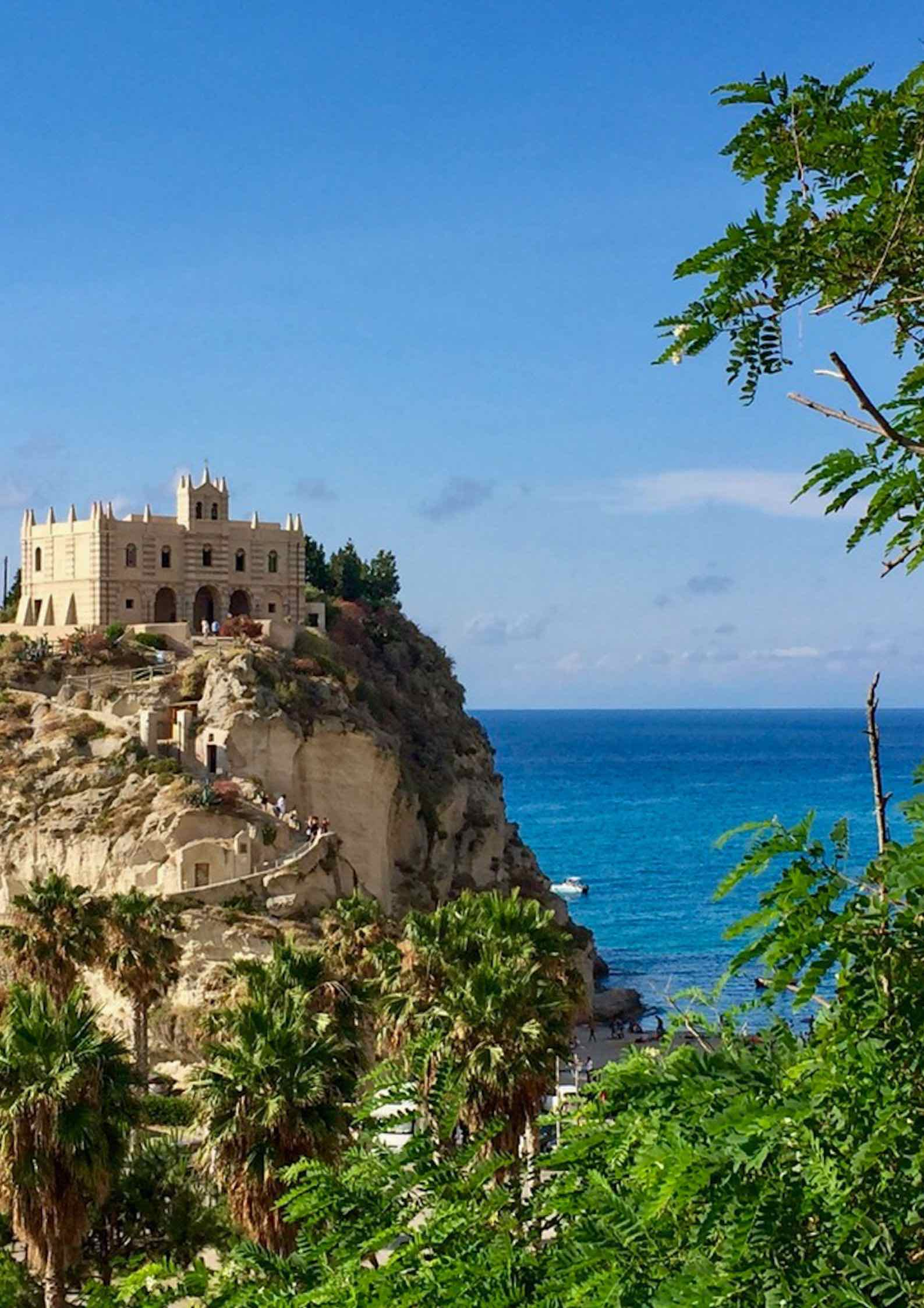 The church of Santa Maria dell'Isola, one of Tropea's icons