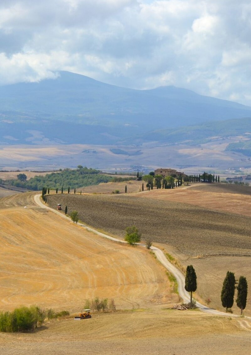 The beautiful landscape of Val D'Orcia in Tuscany