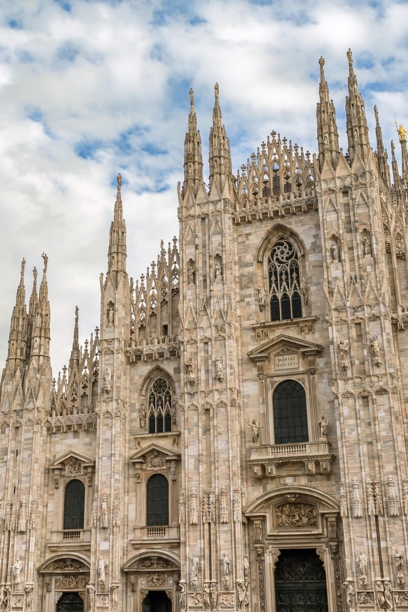The stunning facade of Milan's Duomo cathedral