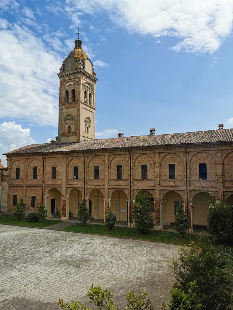 The Abbey of San Pietro in Breme as seen from the mayor's offices