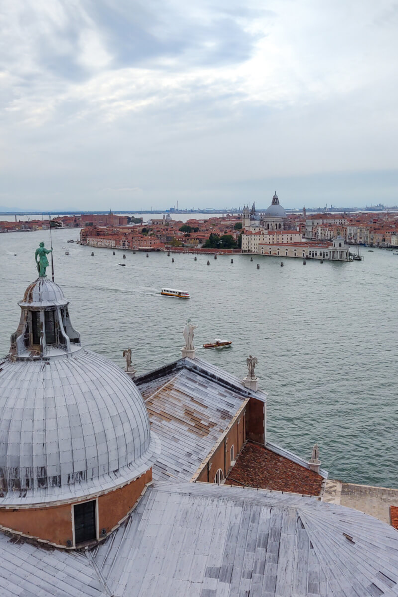 The views of Venice fro the top of the bell tower on San Giorgio Island