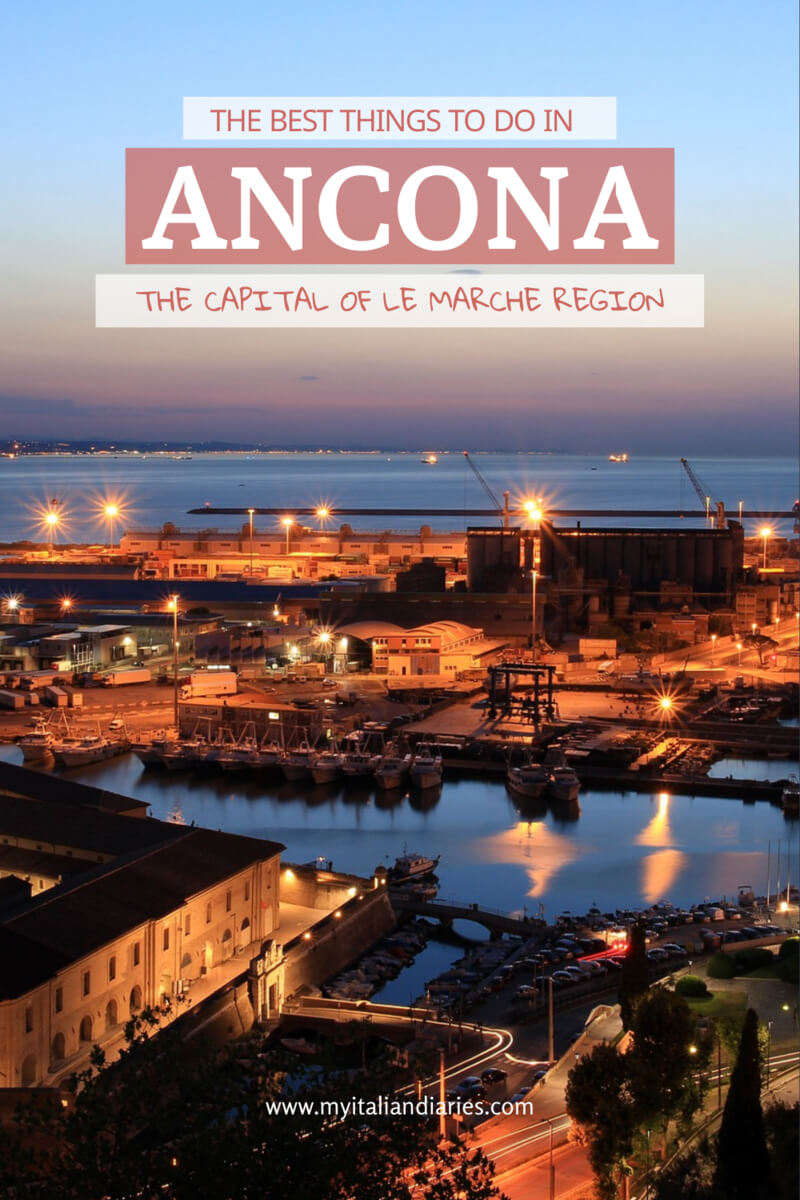 The port of Ancona at night